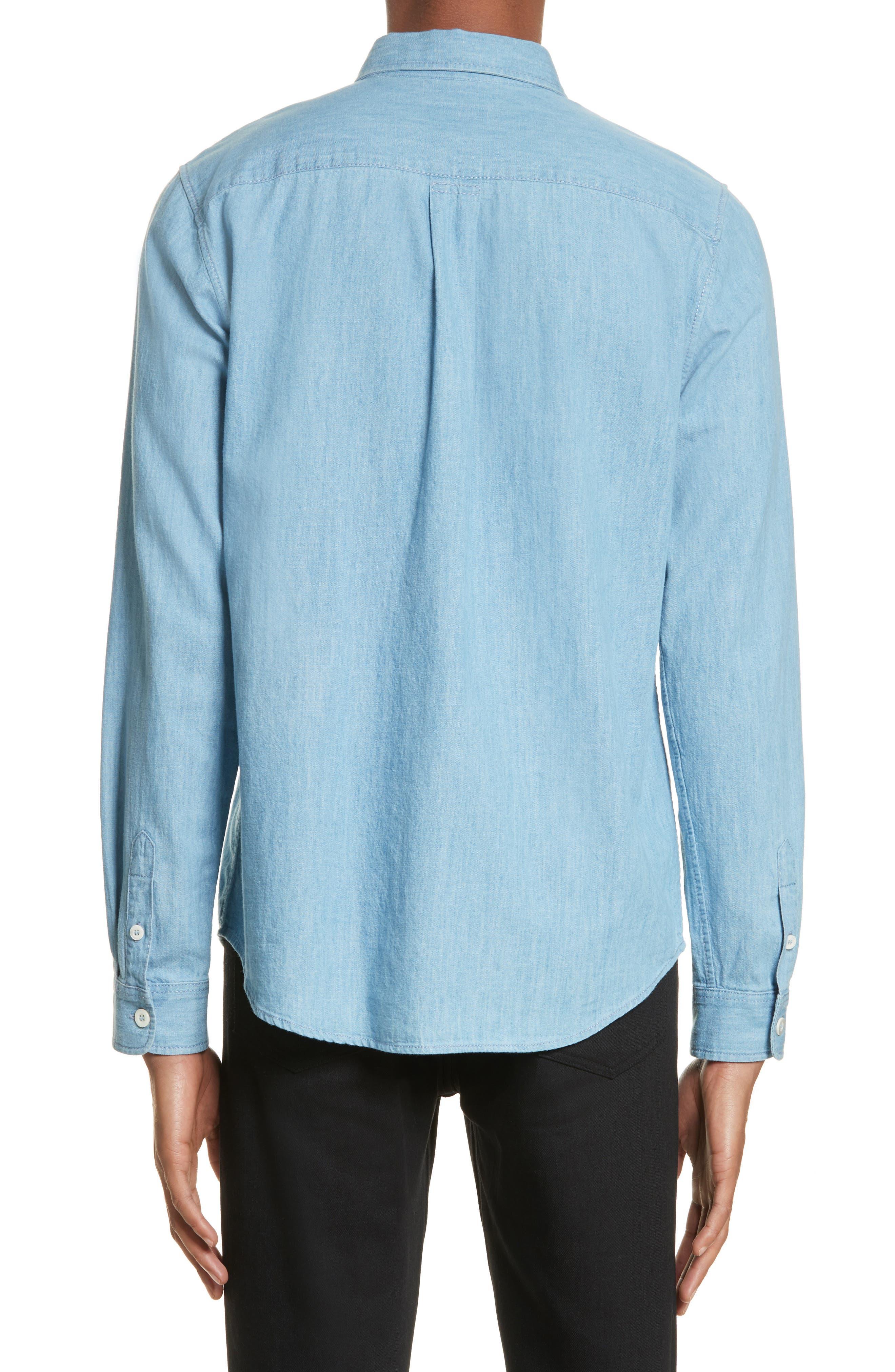 Chambray Shirt,                             Alternate thumbnail 3, color,                             Bleu Iaa