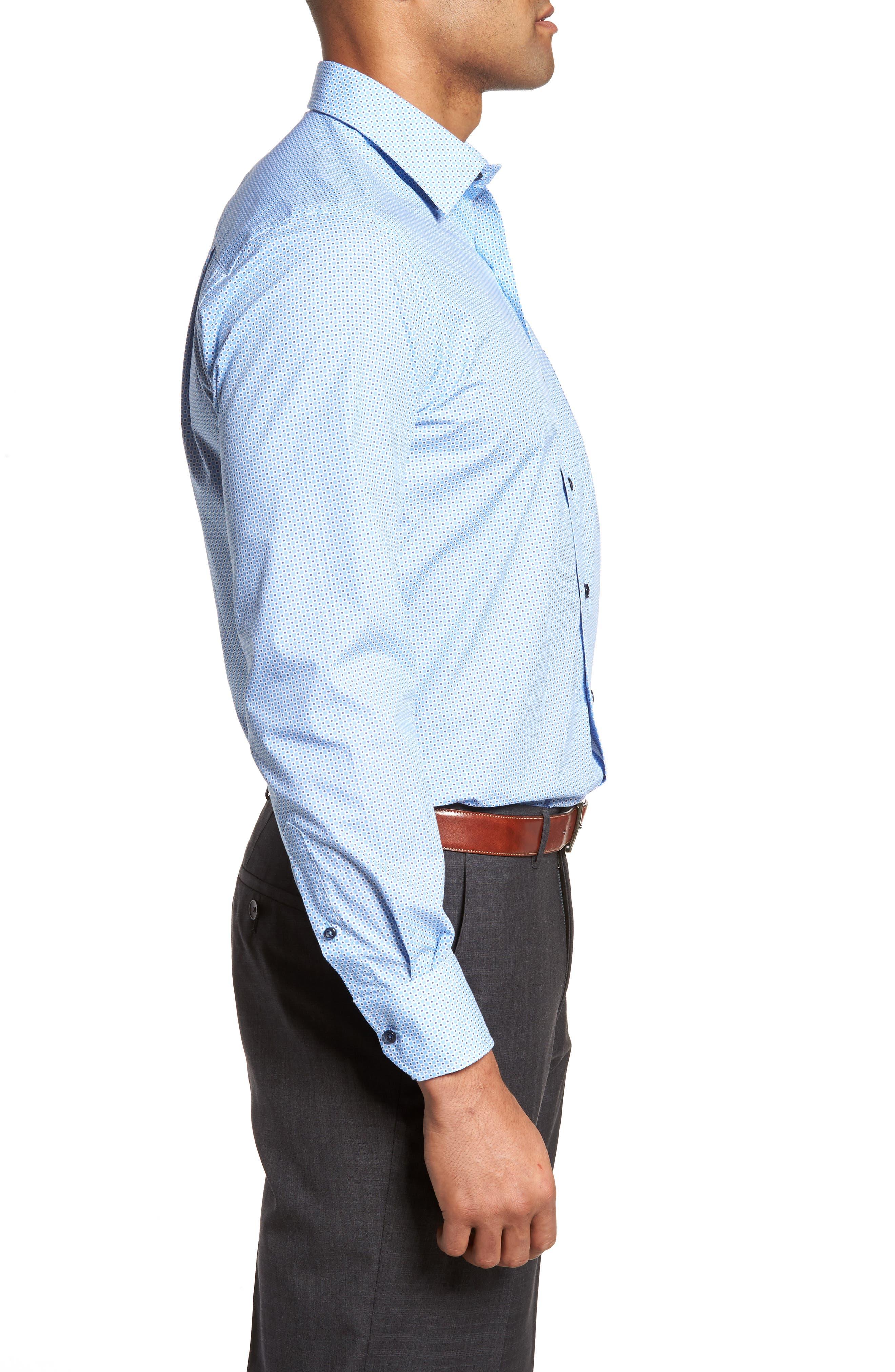 Print Sport Shirt,                             Alternate thumbnail 3, color,                             Blue
