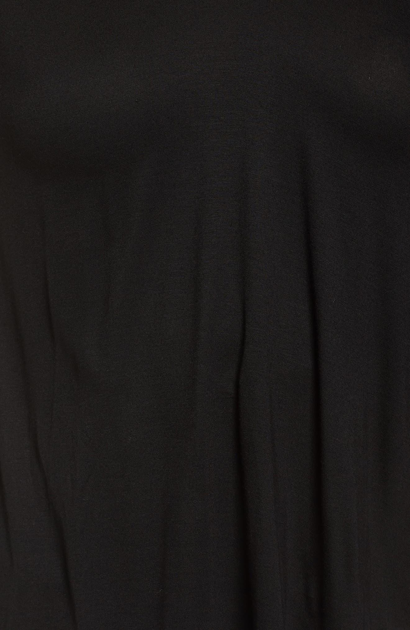 Alternate Image 5  - LOST INK Velvet Trim Cold Shoulder Appliqué Blouse
