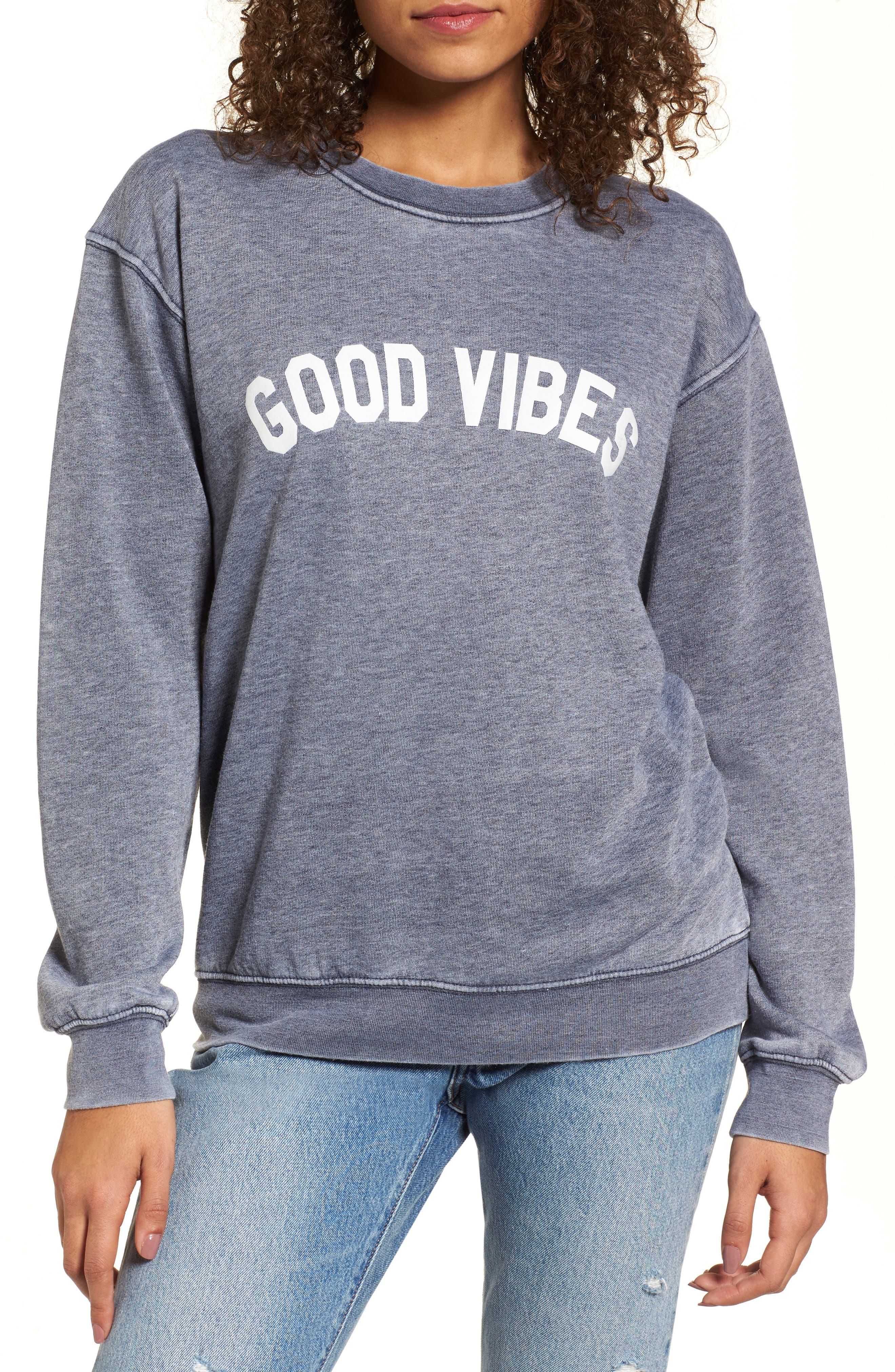 Sub_Urban Riot Good Vibes Burnout Sweatshirt