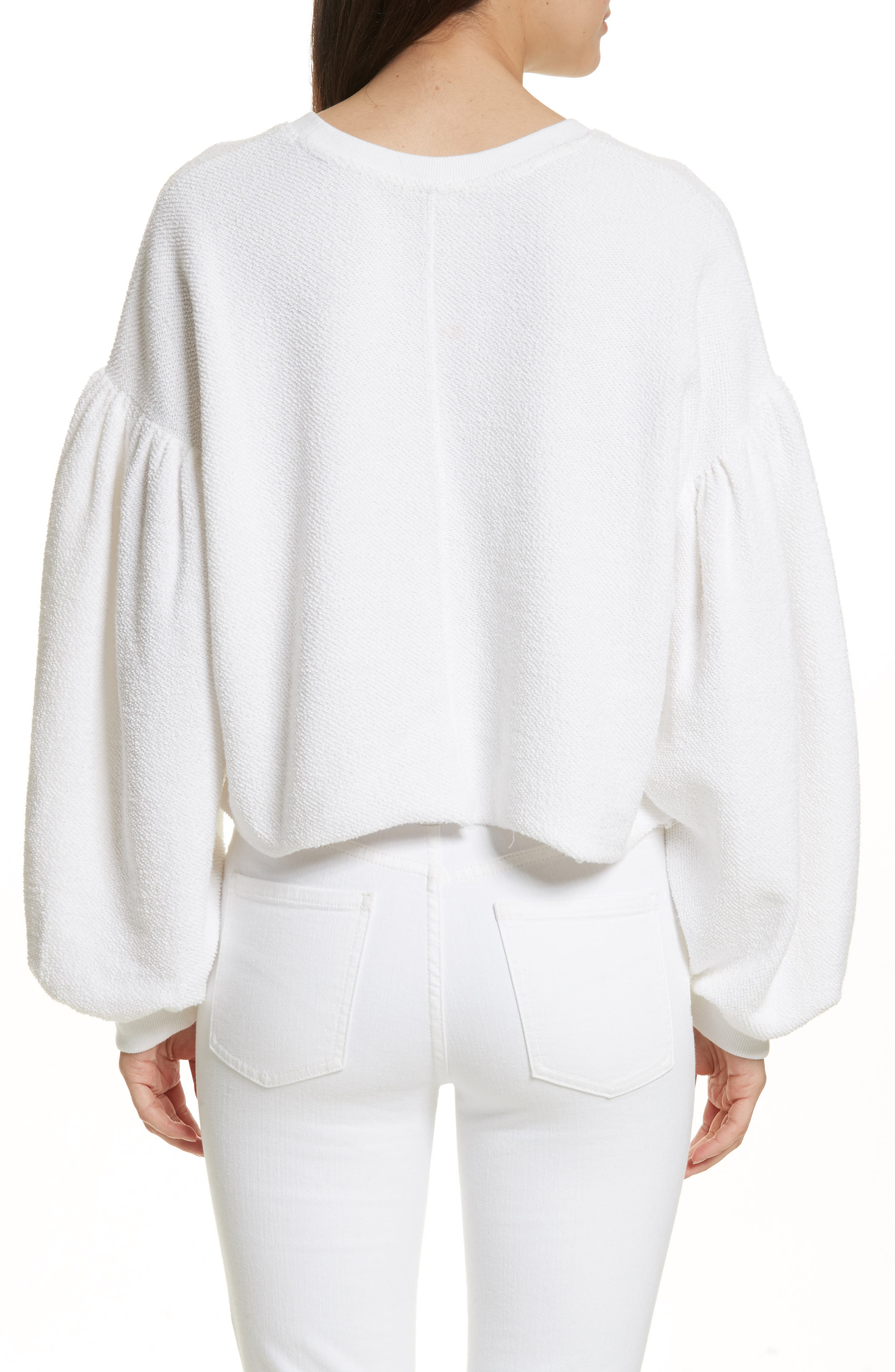 Sleeves like These Sweater,                             Alternate thumbnail 2, color,                             White