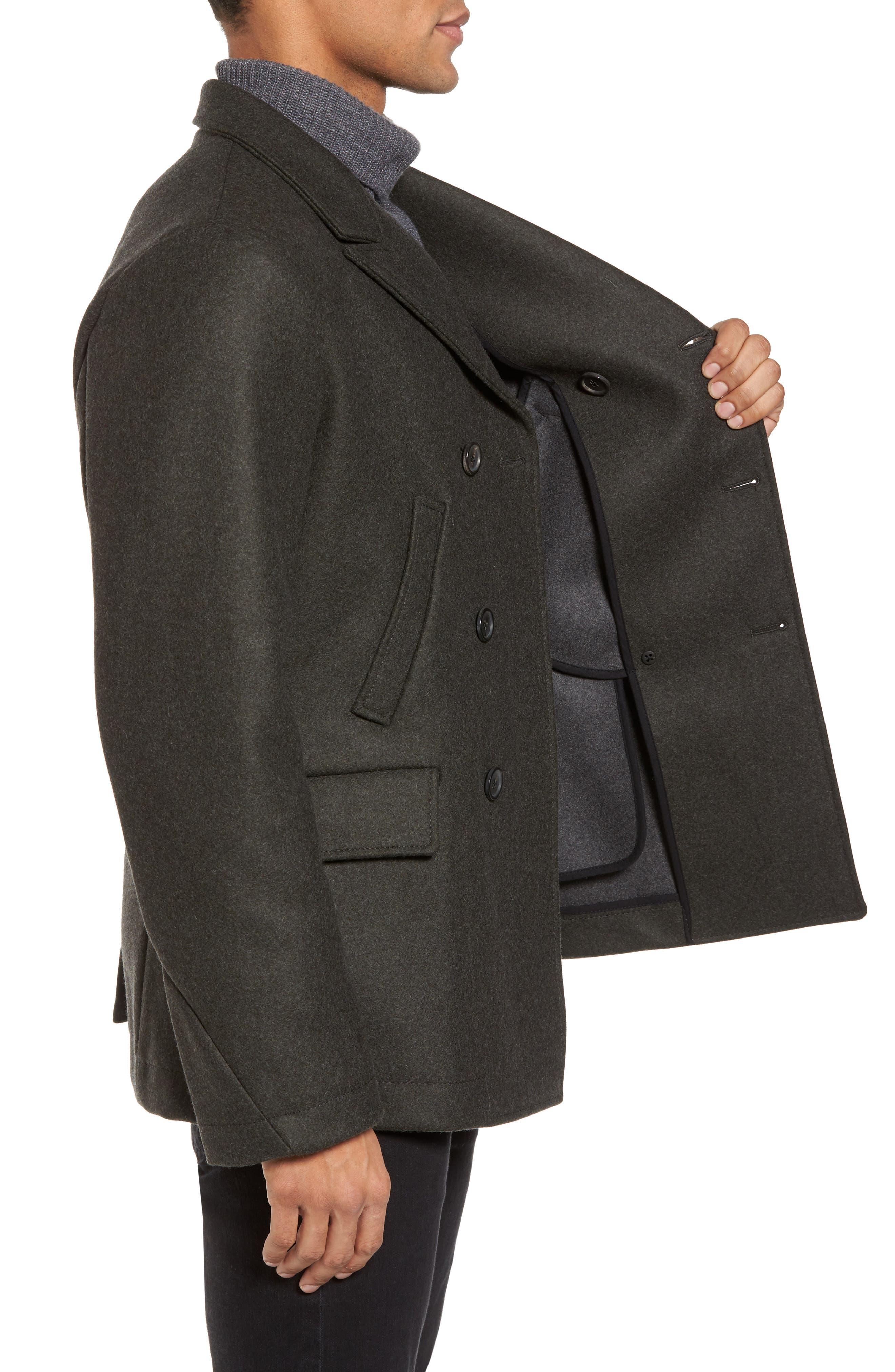 Alternate Image 3  - Billy Reid 'Bond' Wool Blend Peacoat