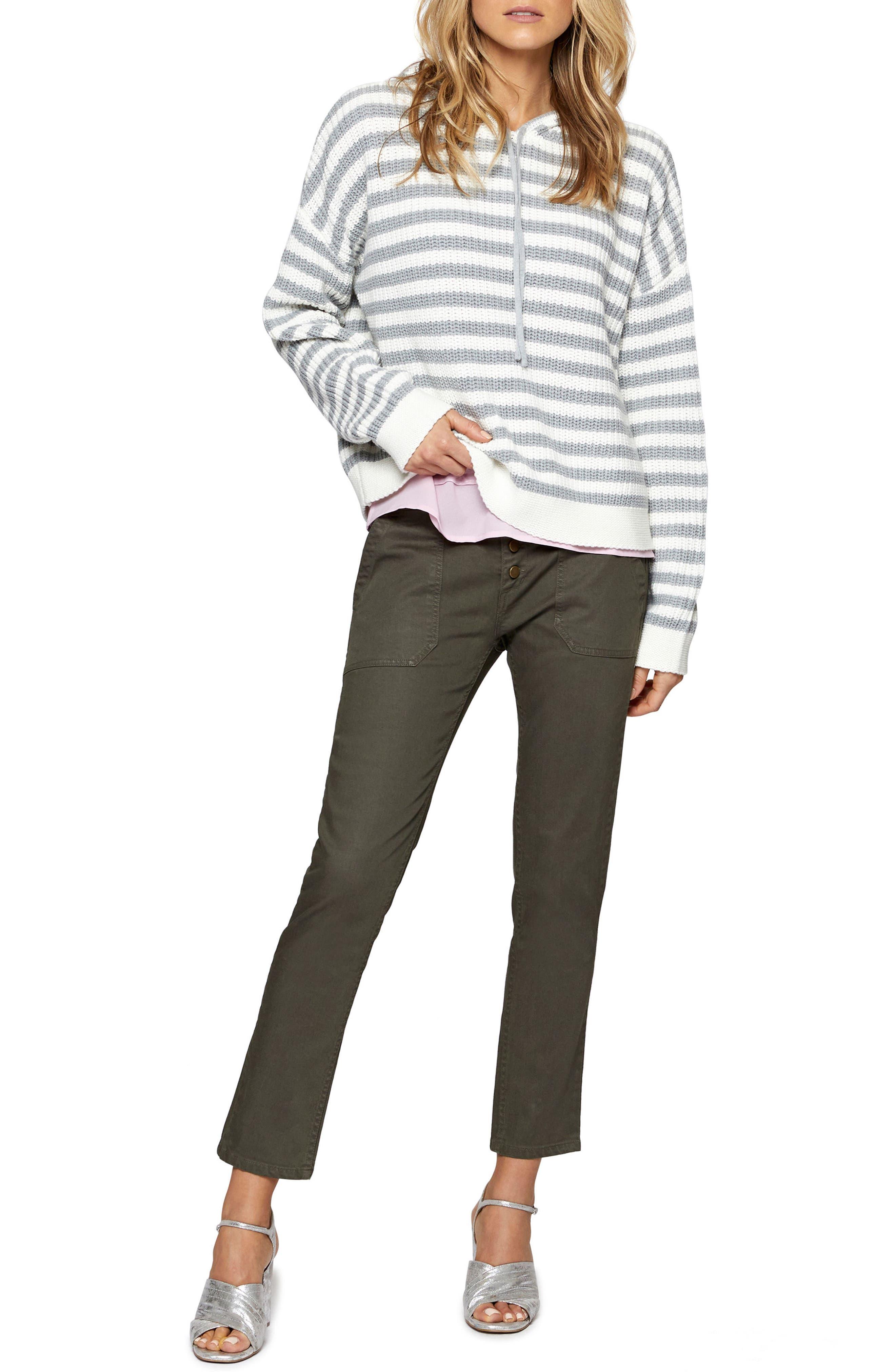Alternate Image 3  - Sanctuary Harlowe Stripe Hoodie (Regular & Petite)