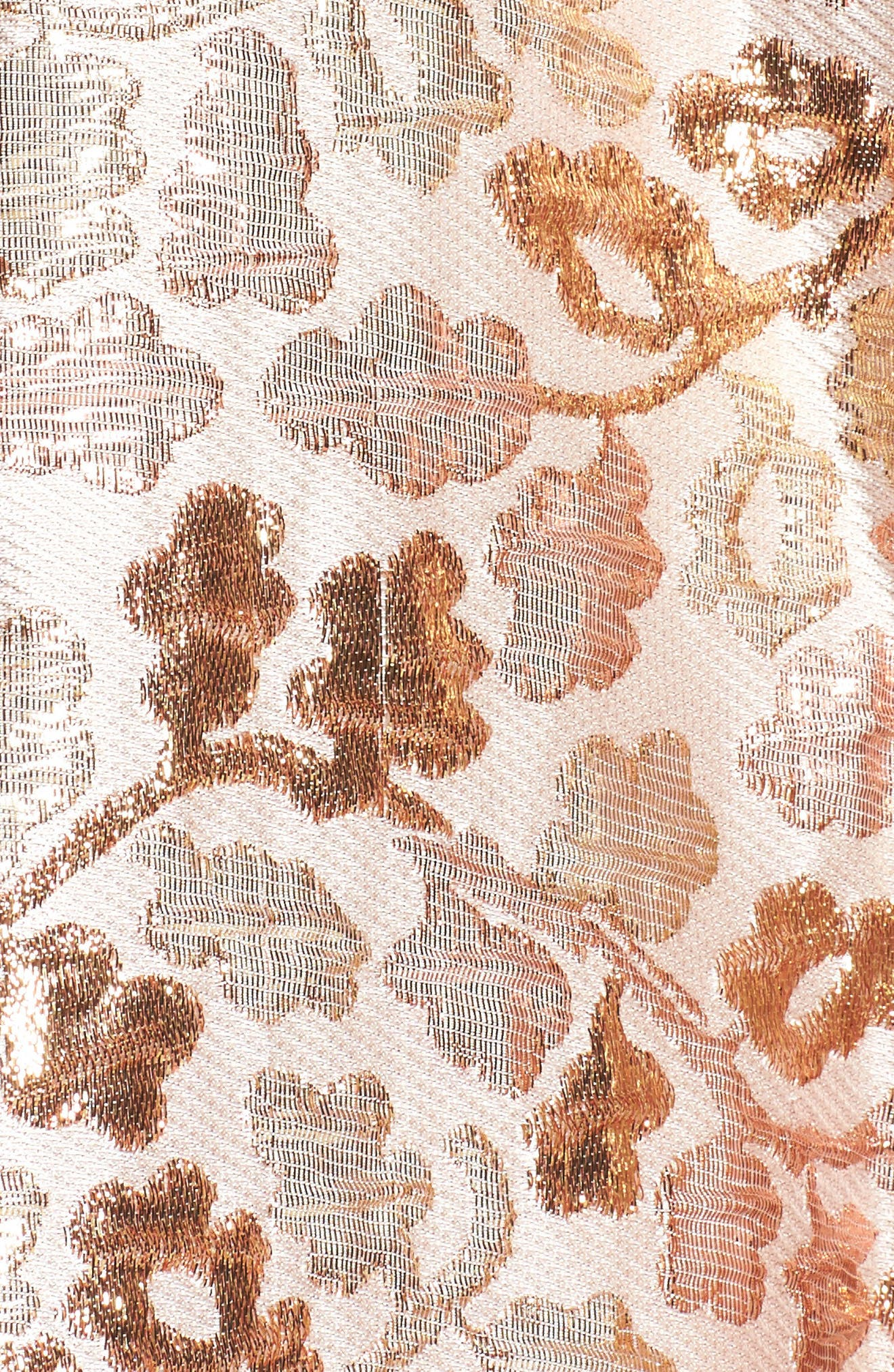 Strapless Jacquard Ballgown,                             Alternate thumbnail 5, color,                             Rose Gold