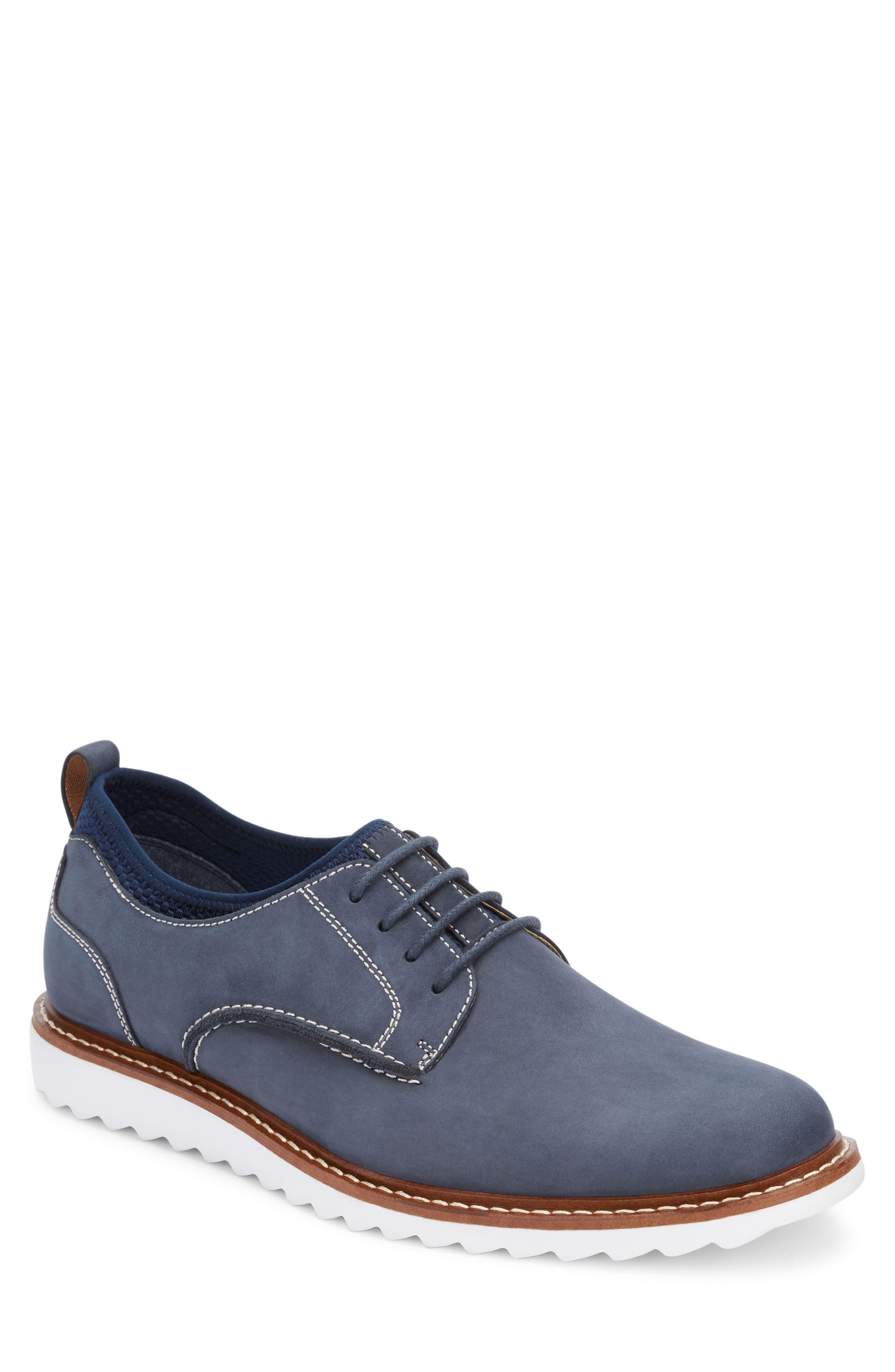 G.H. BASS & CO. Men'S Buck 2.0 Plain-Toe Oxfords Men'S Shoes in Navy Nubuck