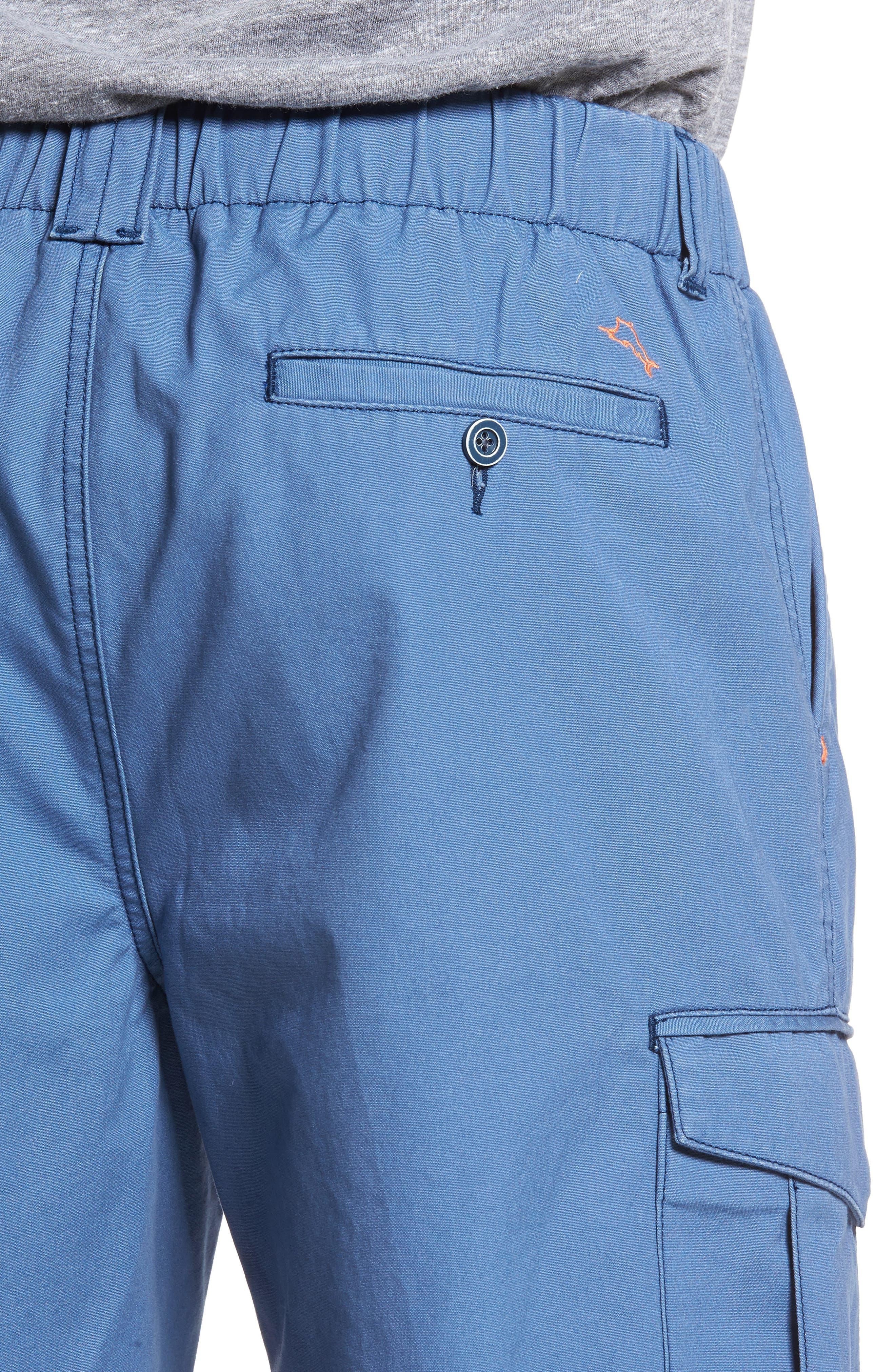 Island Survivalist Cargo Shorts,                             Alternate thumbnail 4, color,                             Dockside Blue