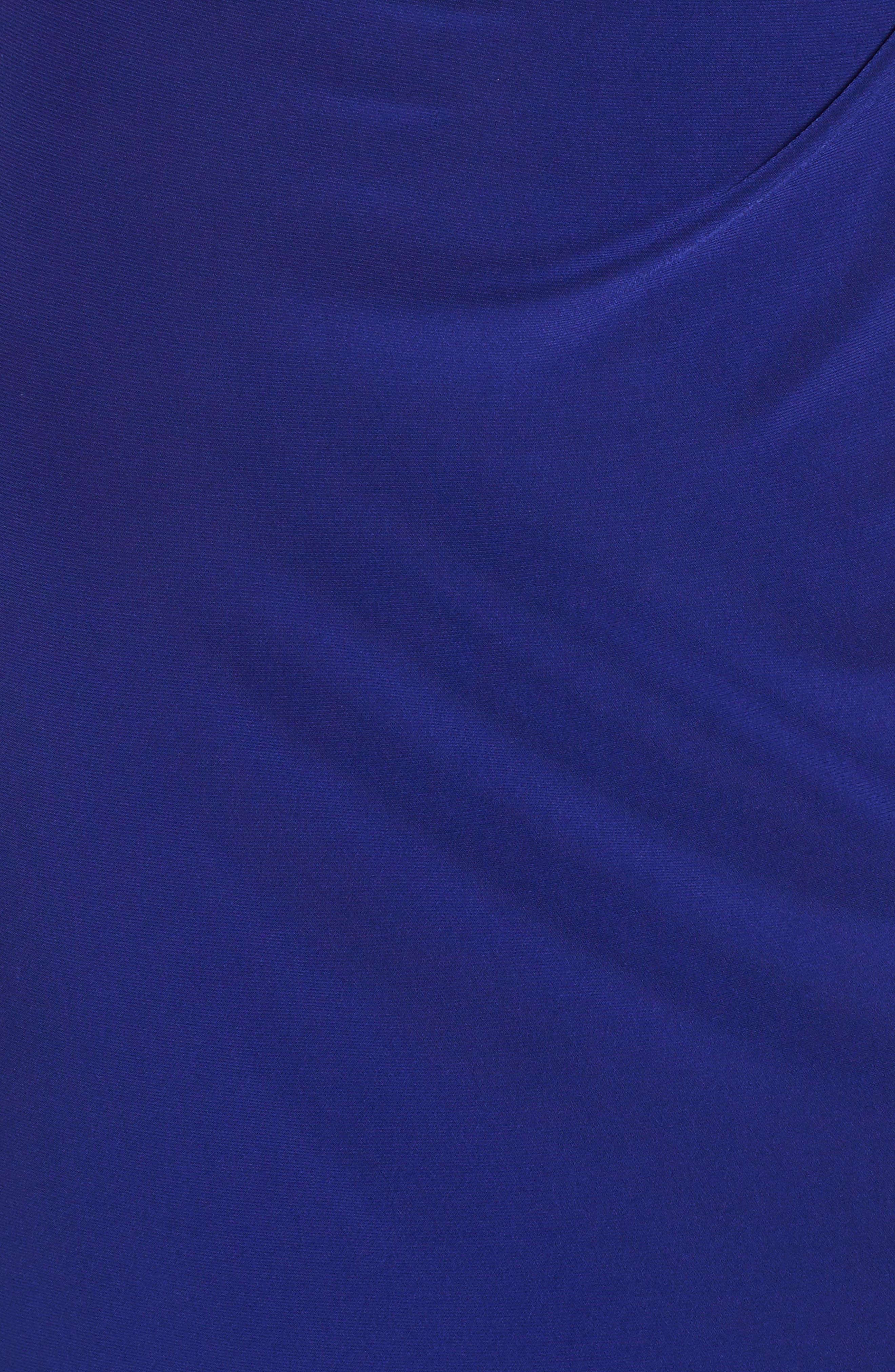 Jeweled Neck Column Gown,                             Alternate thumbnail 5, color,                             Cobalt