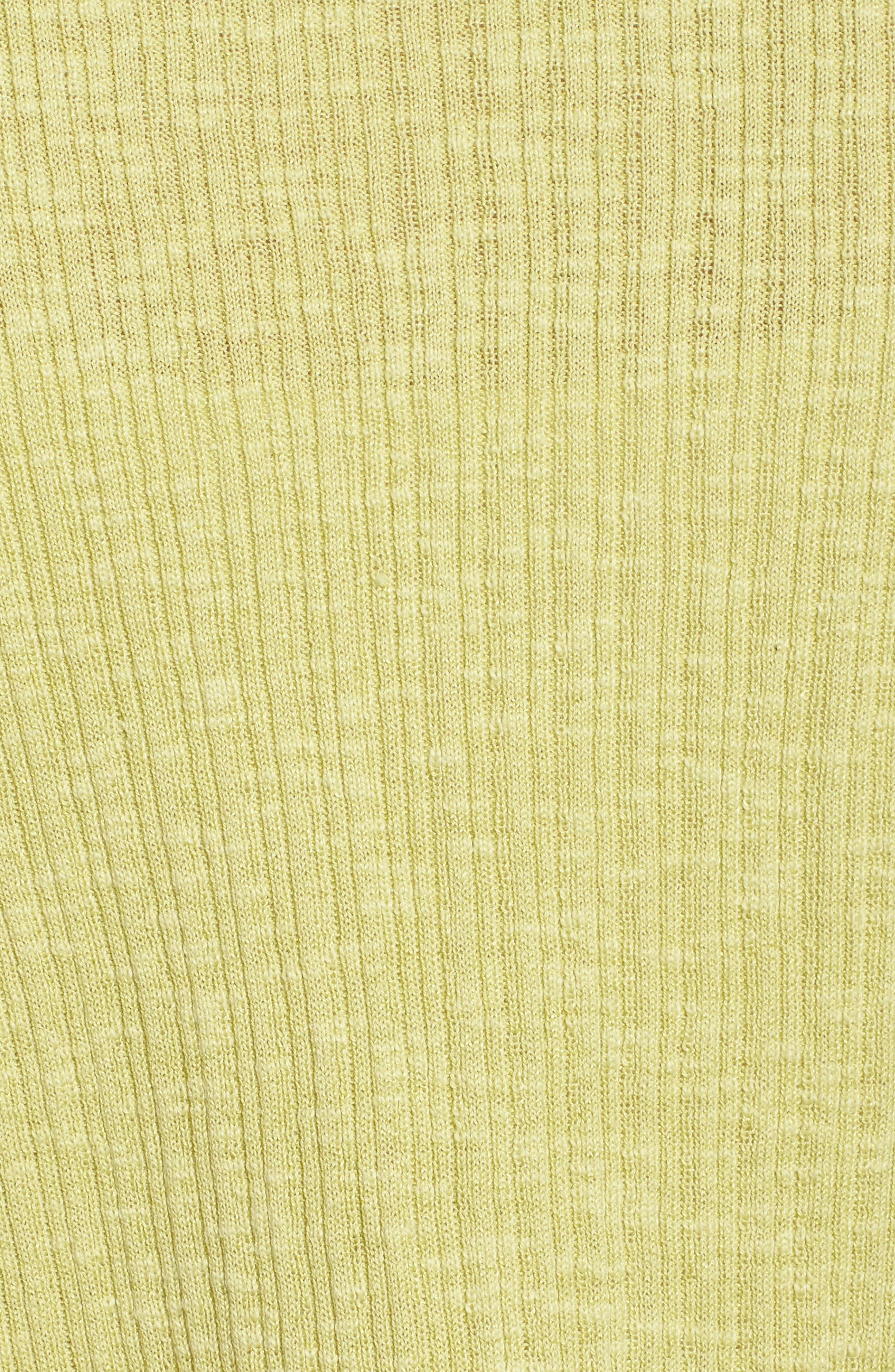 V-Neck Organic Linen & Cotton Cardigan,                             Alternate thumbnail 5, color,                             Verbena