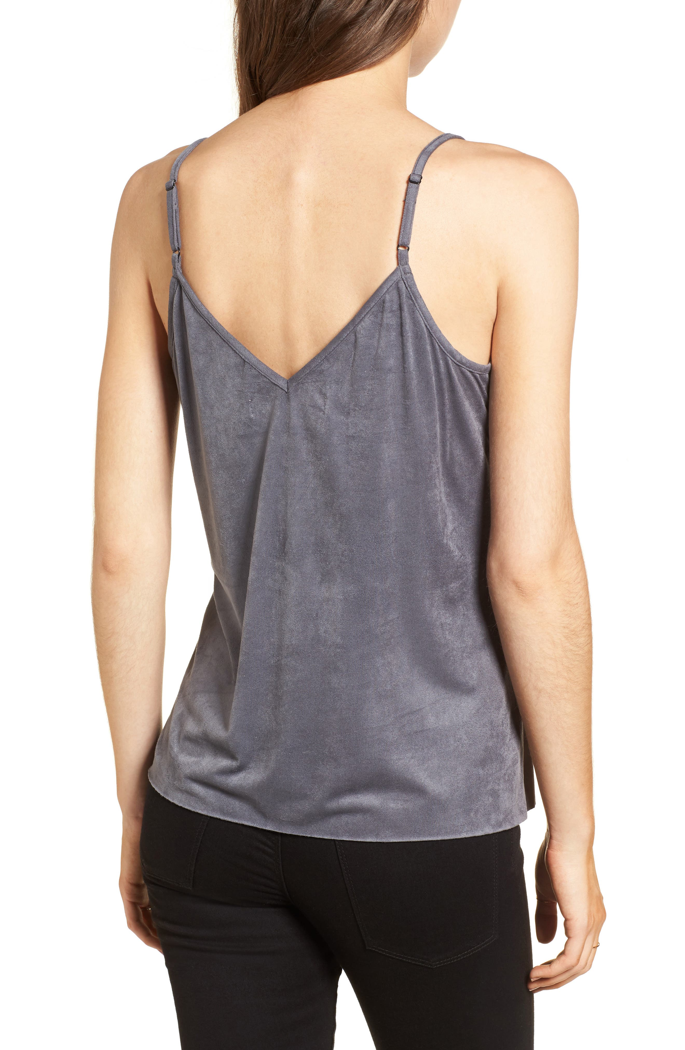 Alternate Image 2  - Mimi Chica Faux Suede Camisole Tank