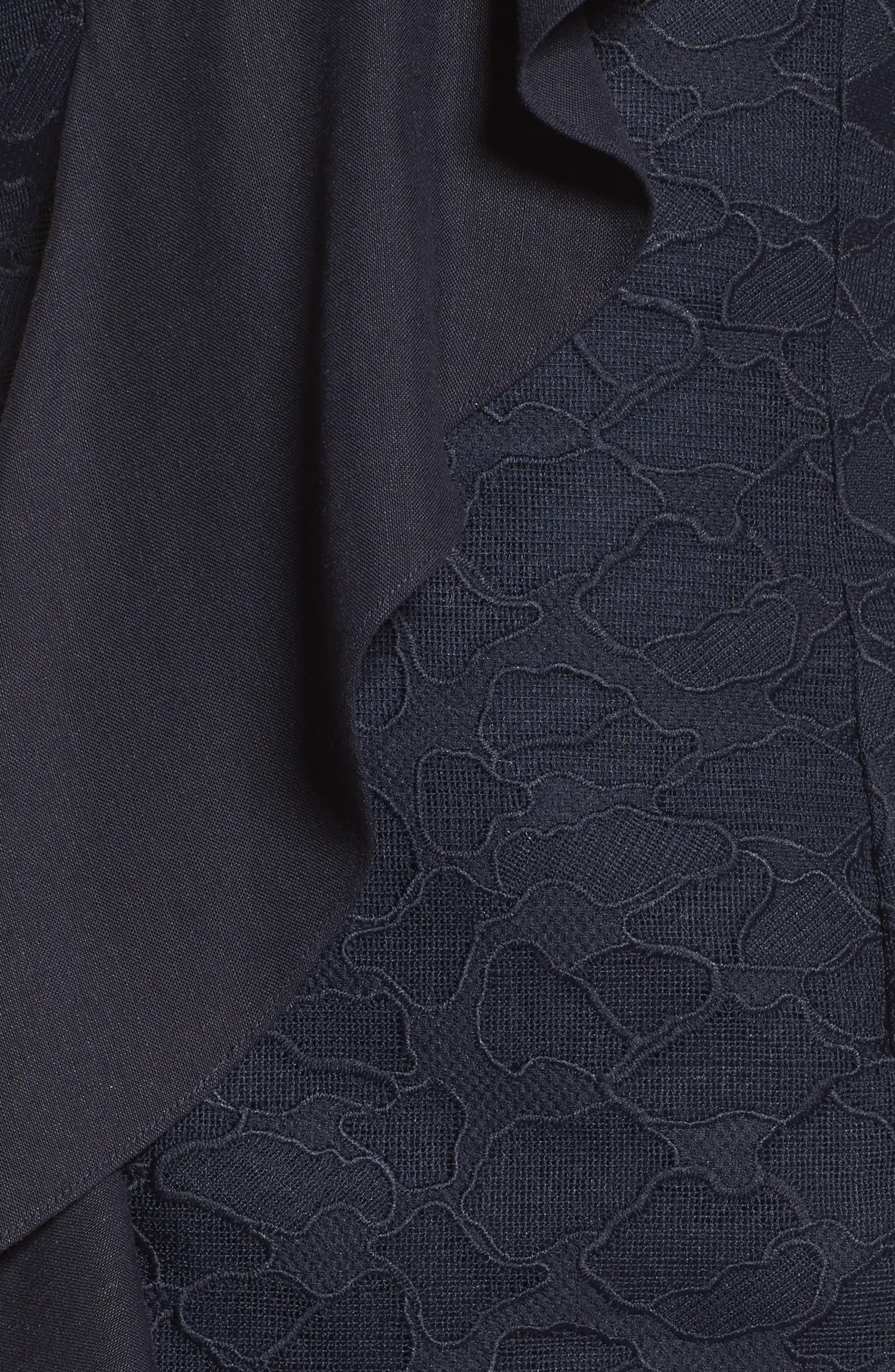 Alternate Image 6  - C/MEO Collective Phase Ruffled Lace Midi Dress