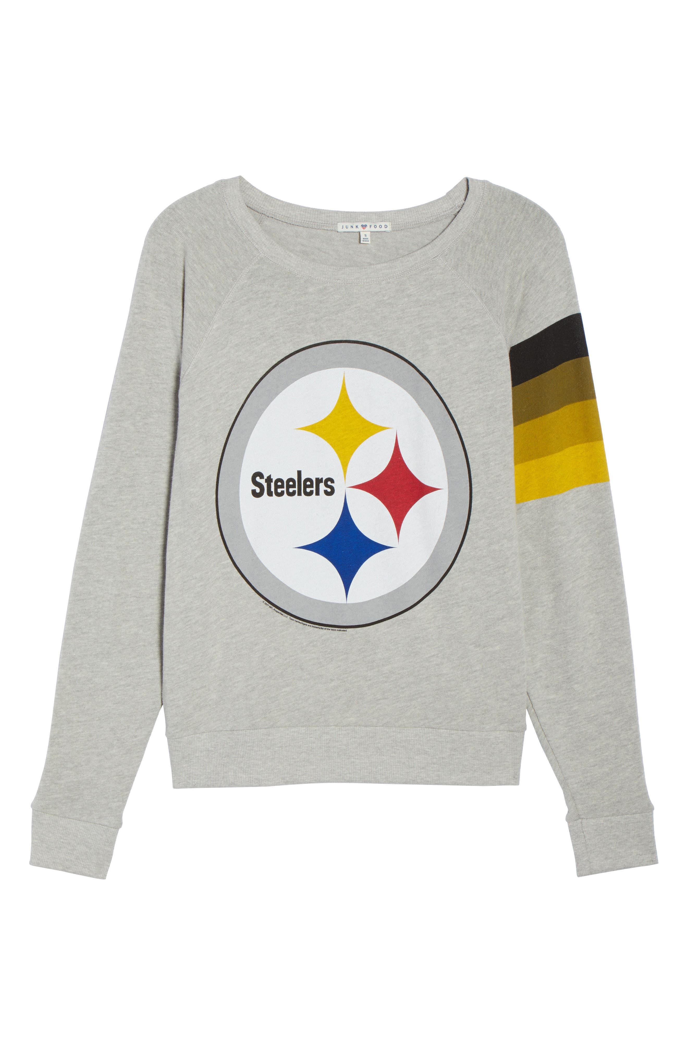 Alternate Image 7  - Junk Food NFL Pittsburgh Steelers Hacci Sweatshirt (Nordstrom Exclusive)