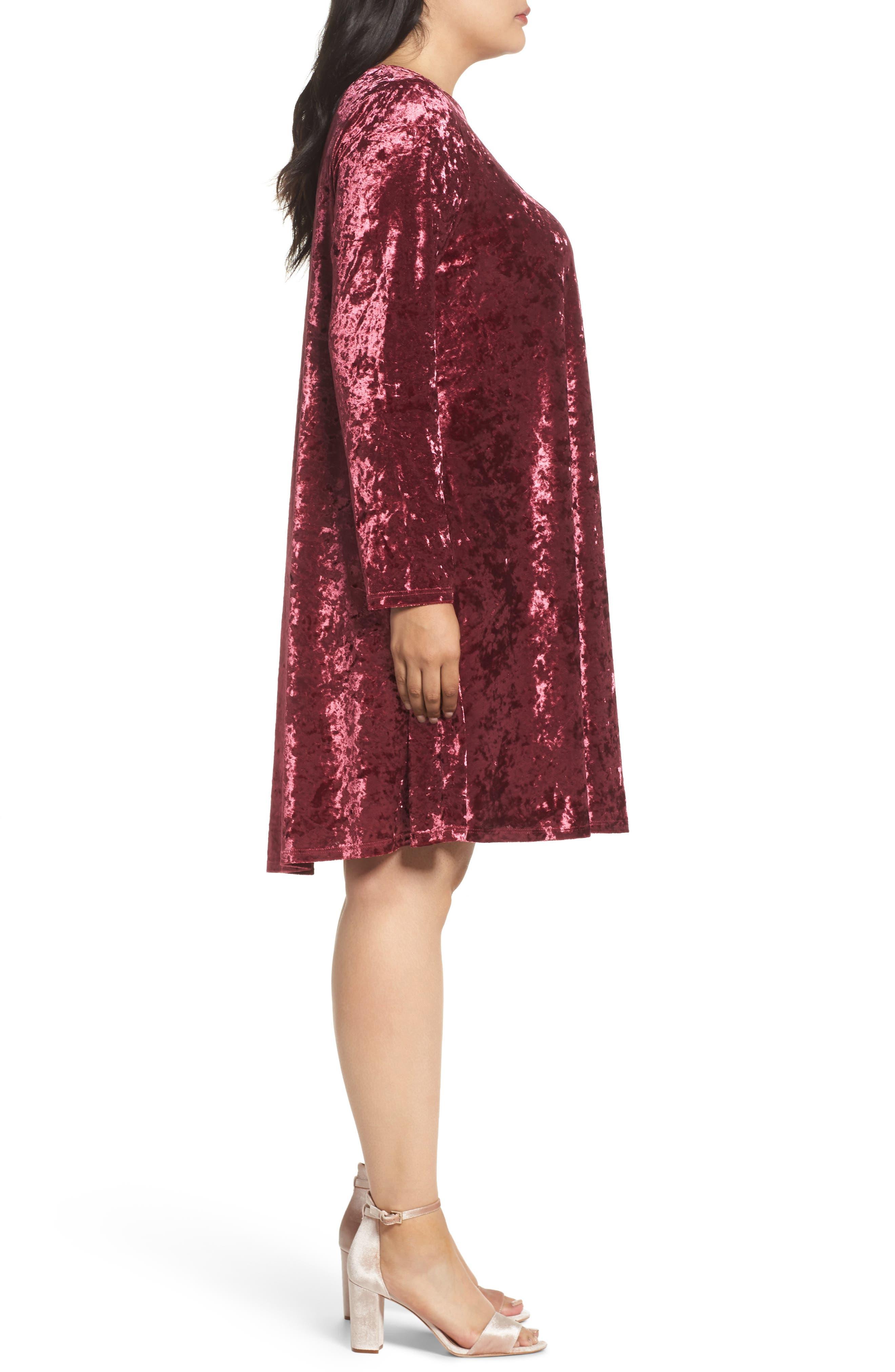 Alternate Image 3  - Glamorous Velvet Shift Dress (Plus Size)