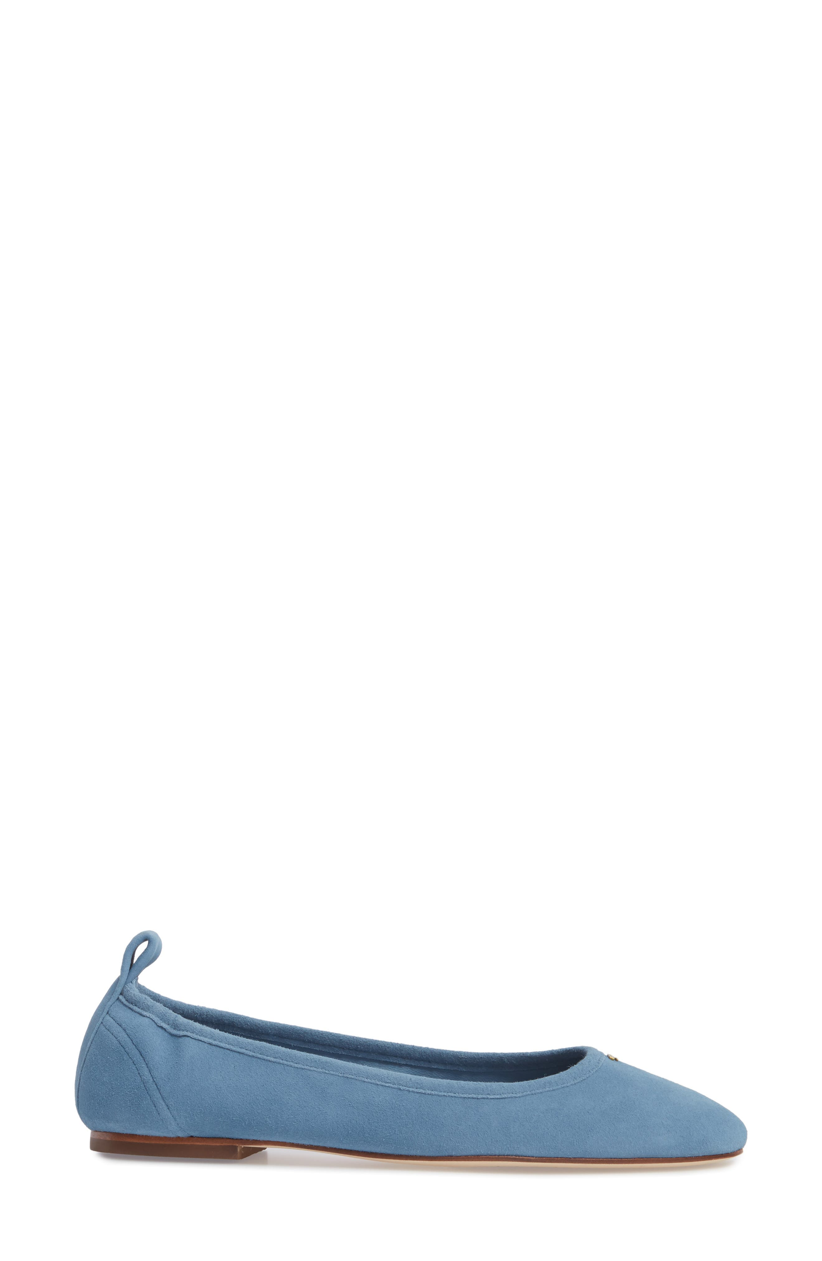 Therese Ballet Flat,                             Alternate thumbnail 3, color,                             Blue Yonder