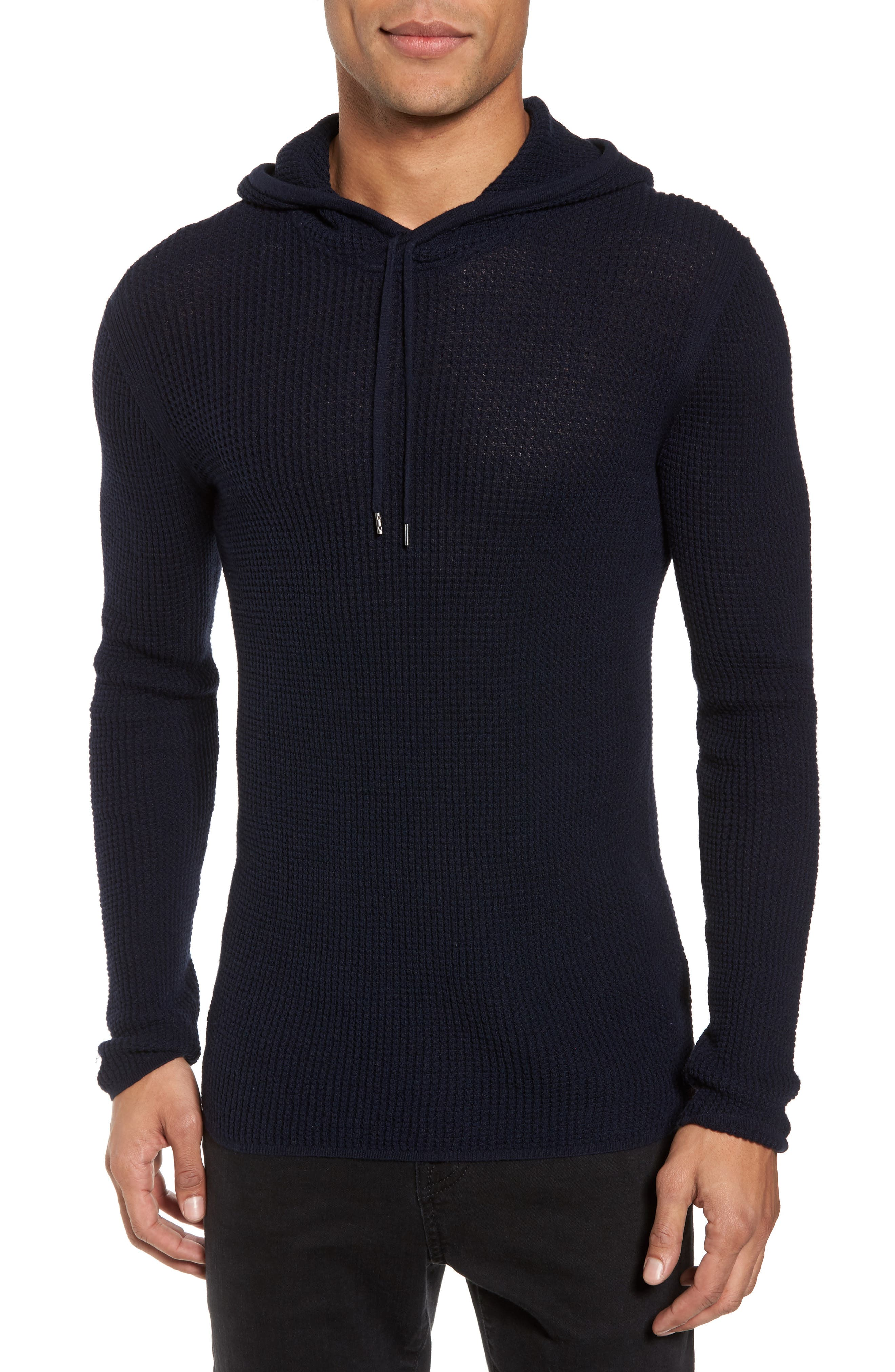 Thermal Pullover Hoodie,                         Main,                         color, Marine