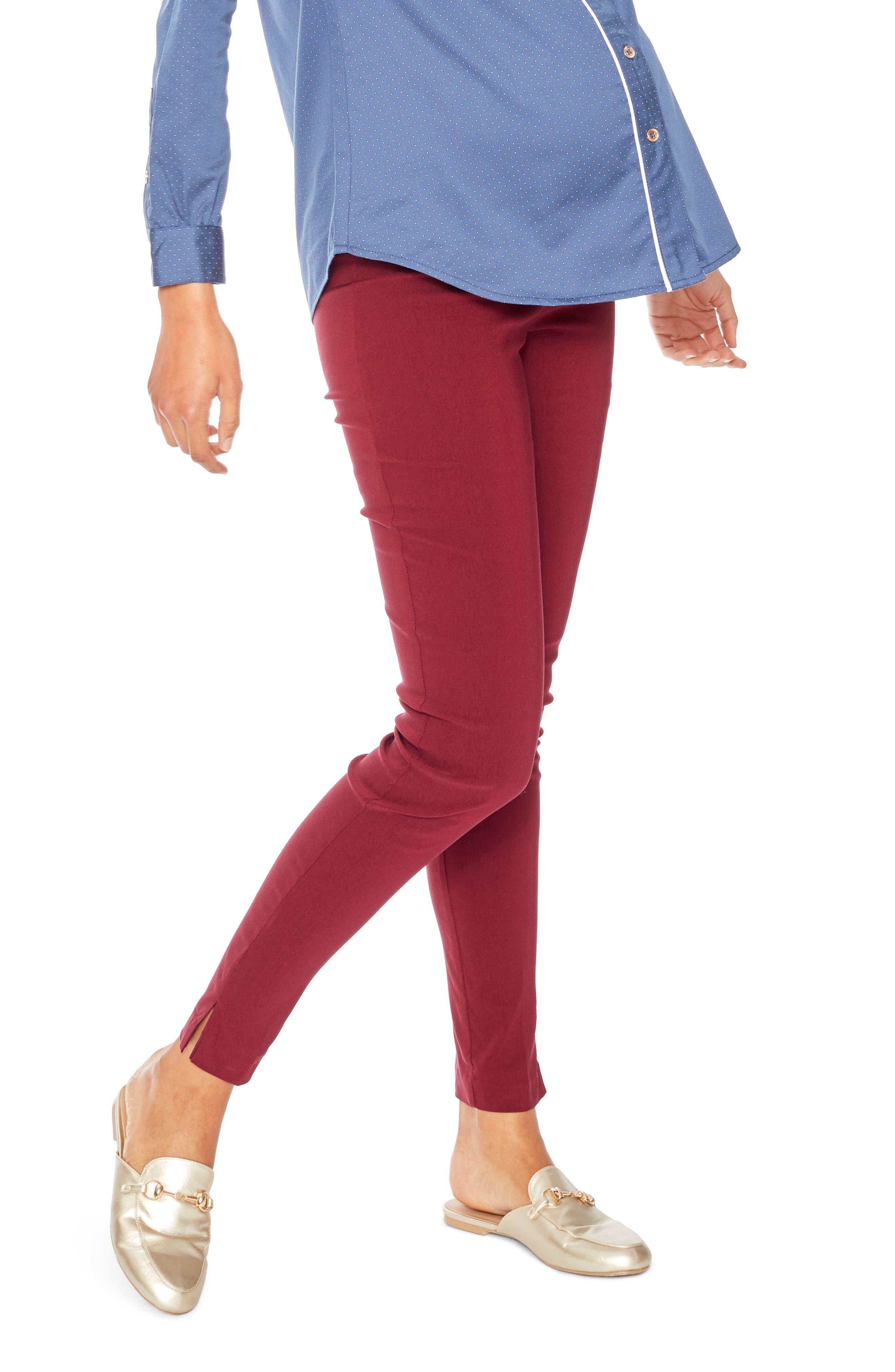 Pret Skinny Maternity Pants,                         Main,                         color, Wine