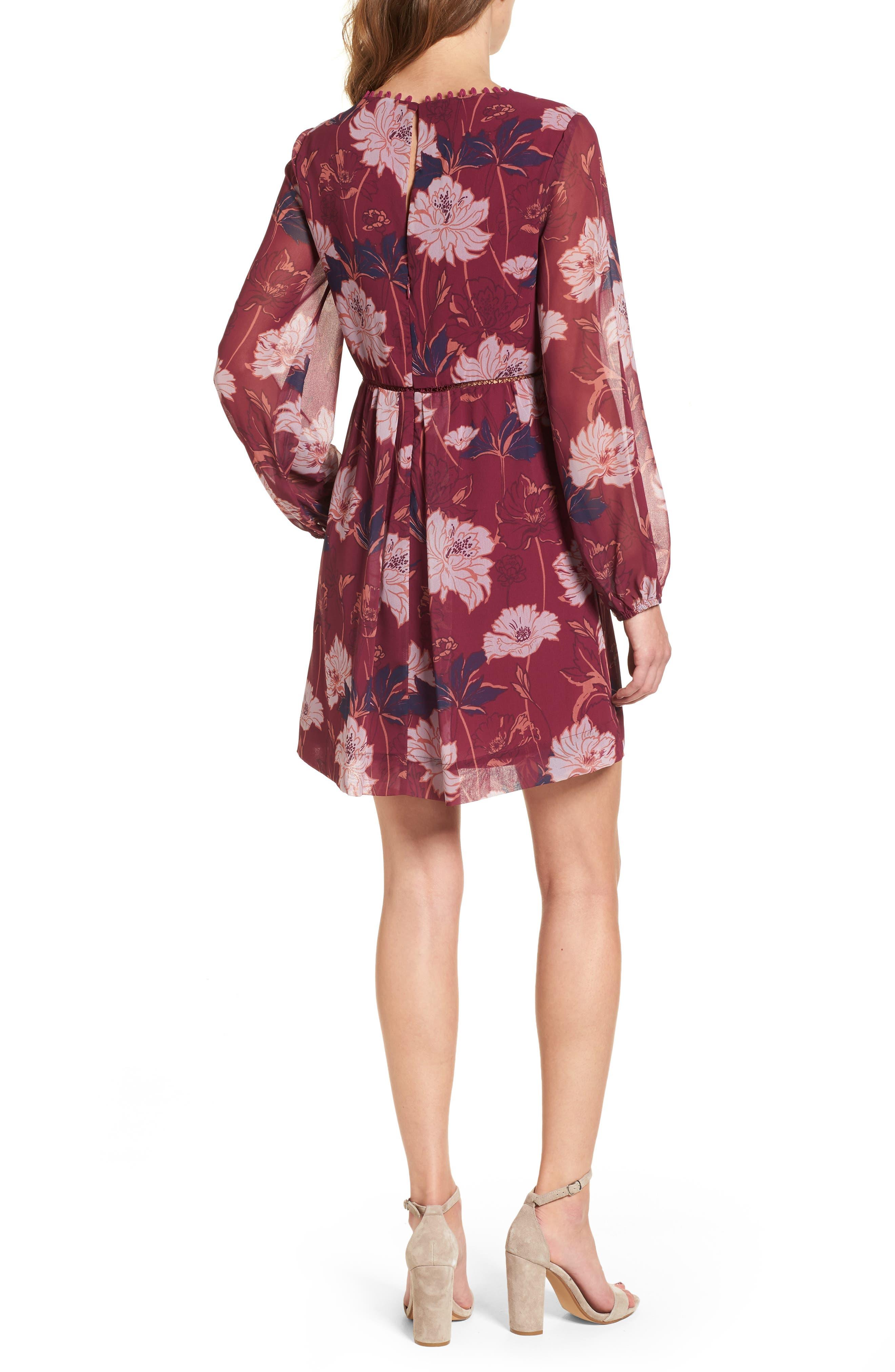 Alternate Image 2  - Ella Moss Floral Haze Minidress