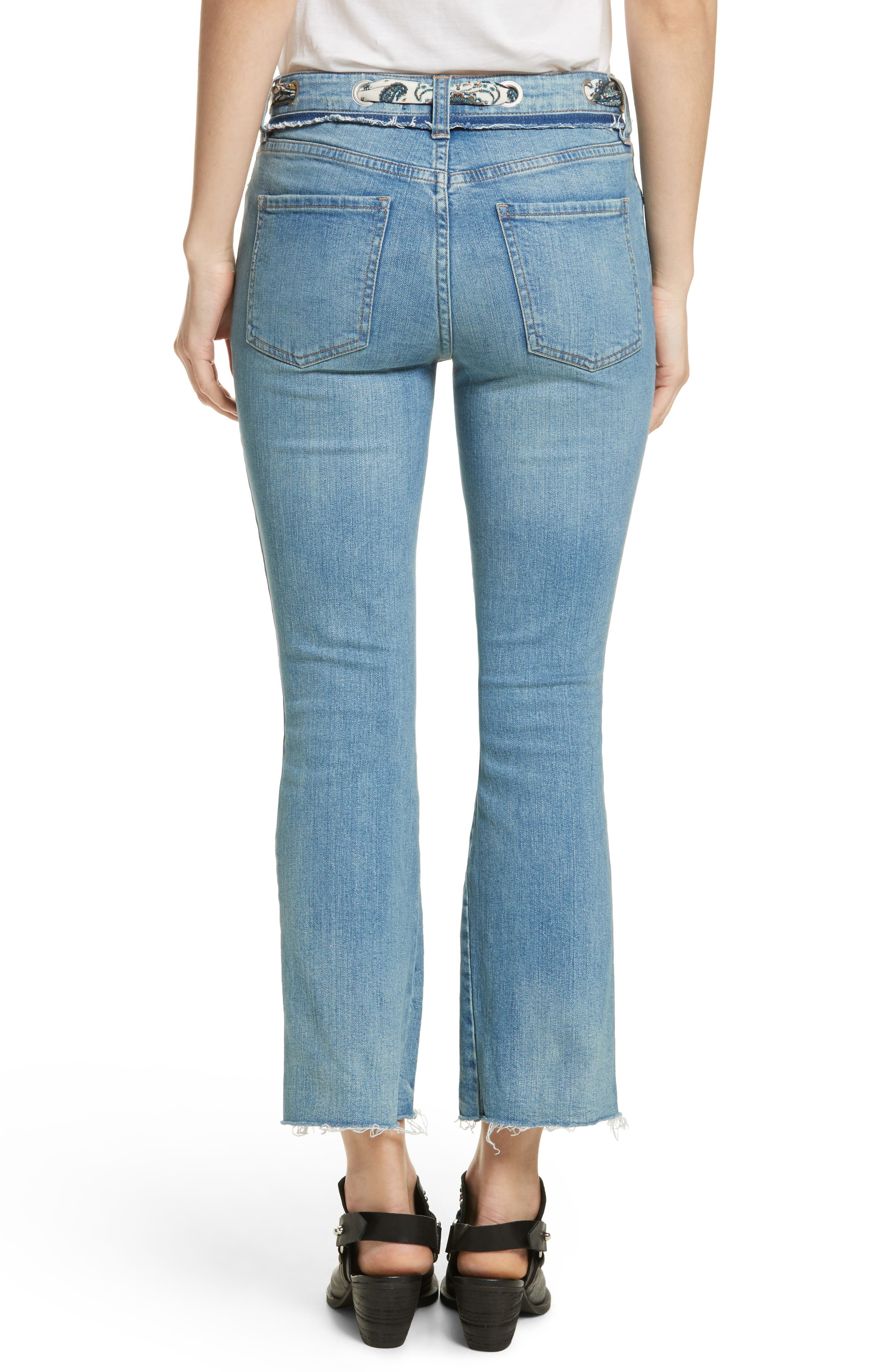 Alternate Image 2  - Free People Belt Out High Waist Crop Bootcut Jeans