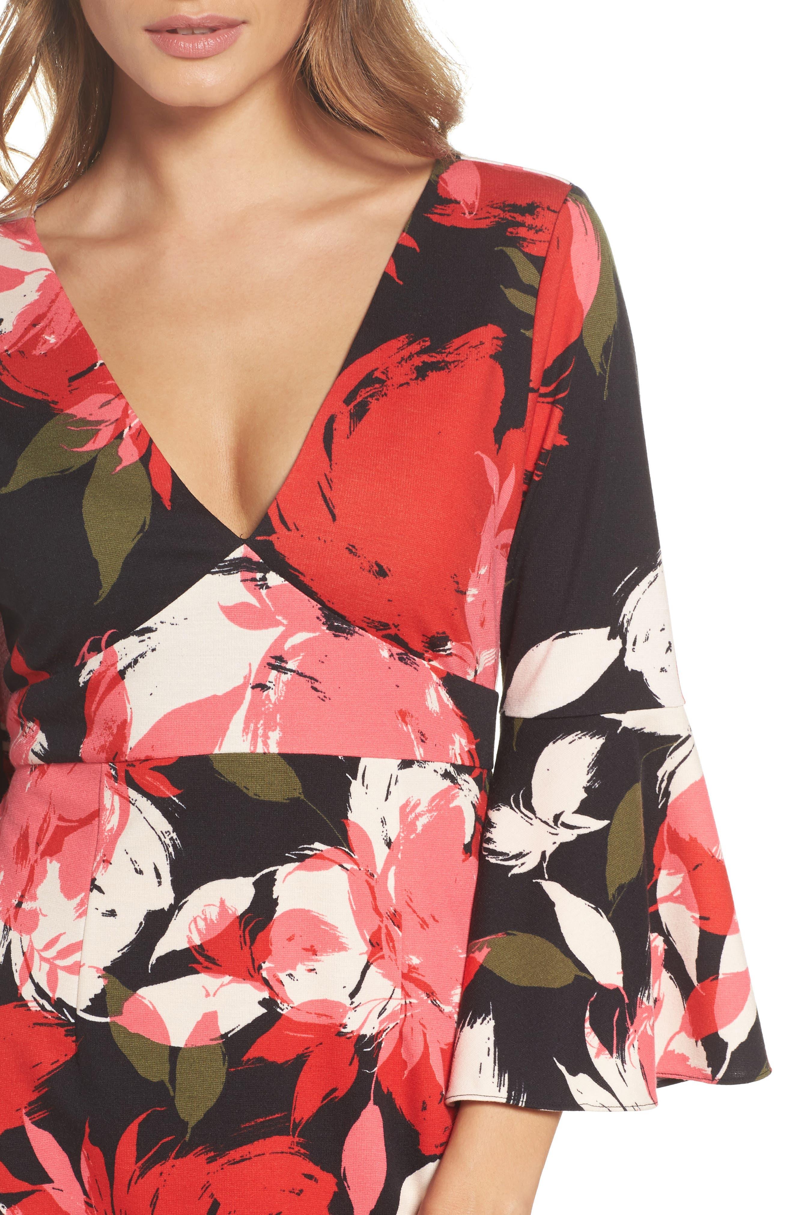 Sena A-Line Dress,                             Alternate thumbnail 4, color,                             Multi