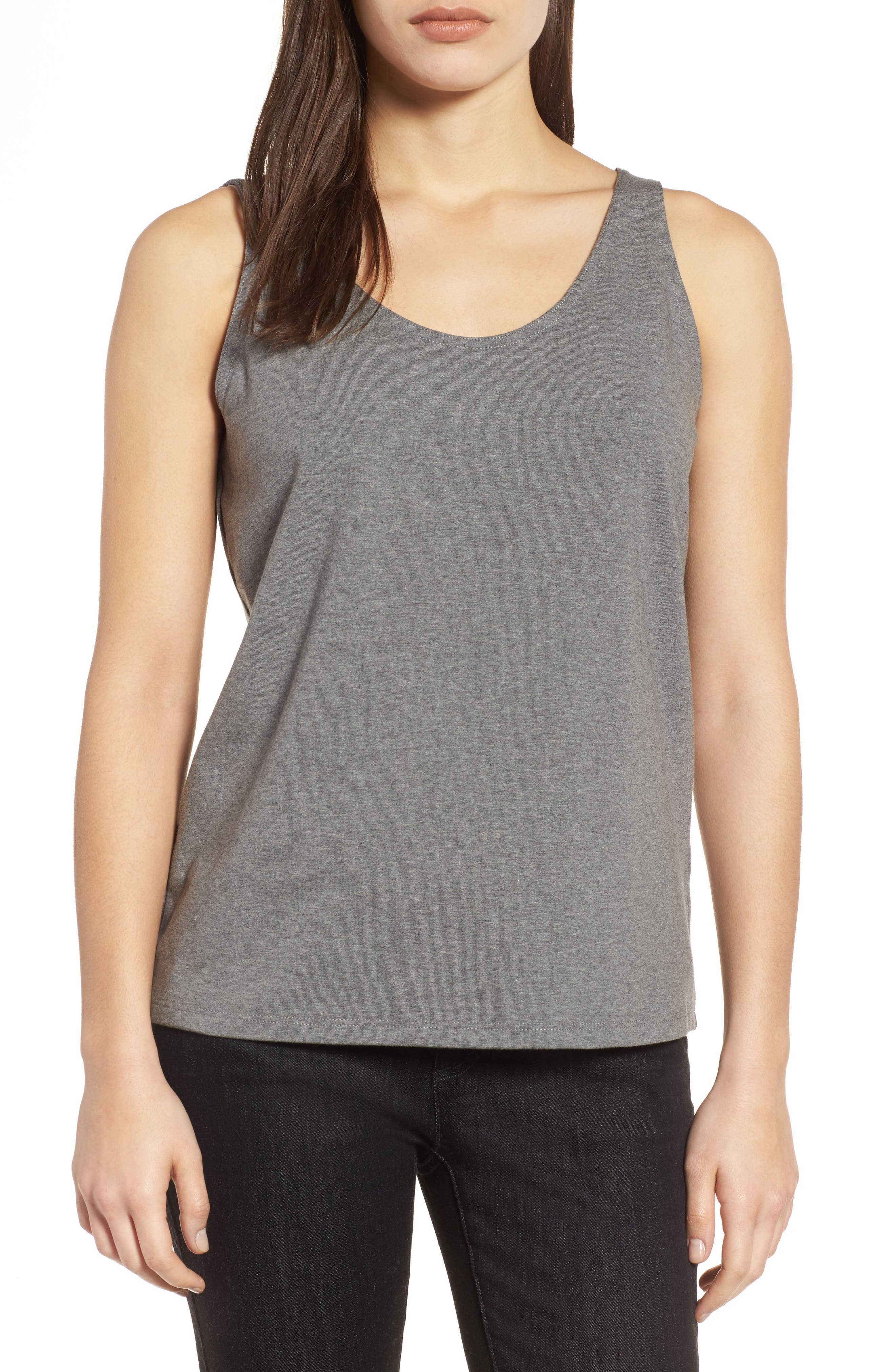 Eileen Fisher Organic Cotton Stretch Jersey Tank