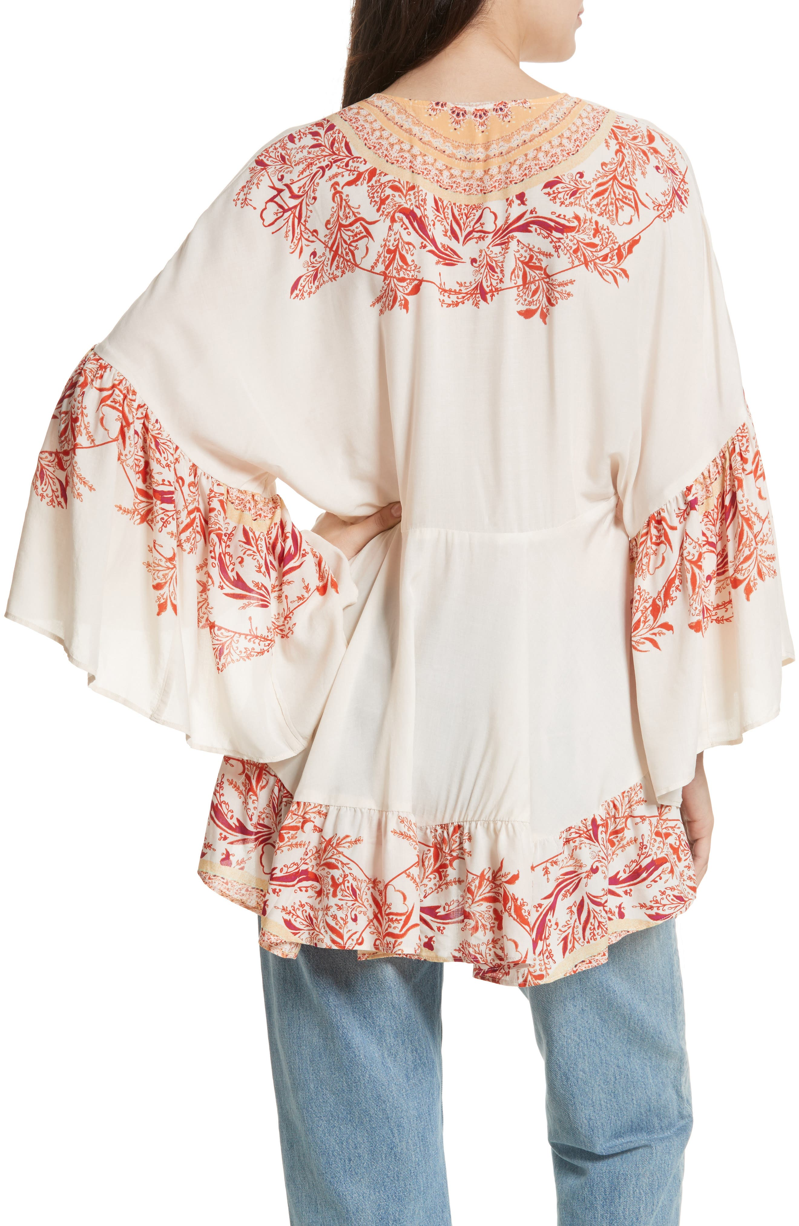 Sunset Dreams Ruffle Top,                             Alternate thumbnail 2, color,                             Sand