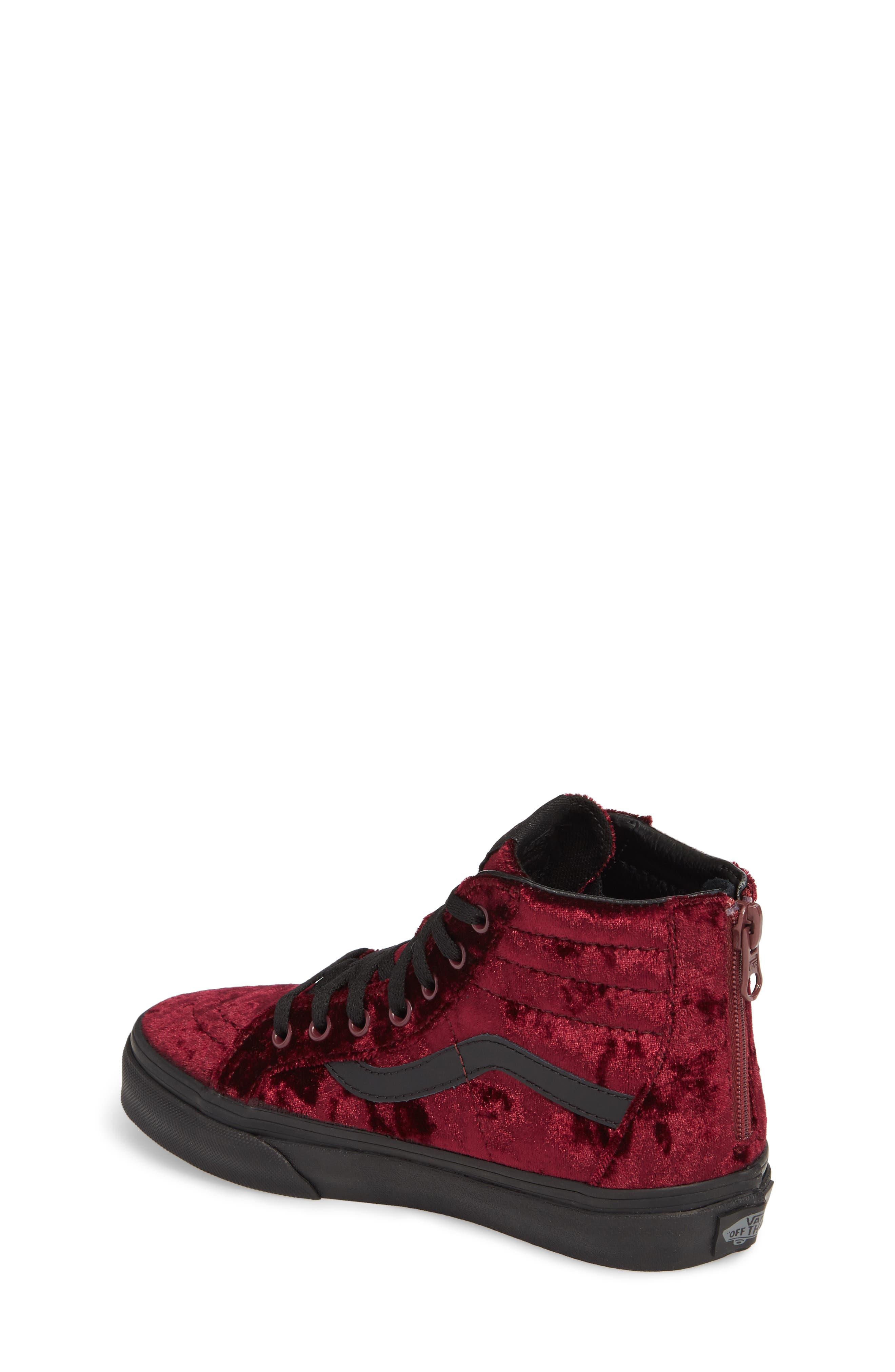 SK8-Hi Zip Sneaker,                             Alternate thumbnail 2, color,                             Red/ Black