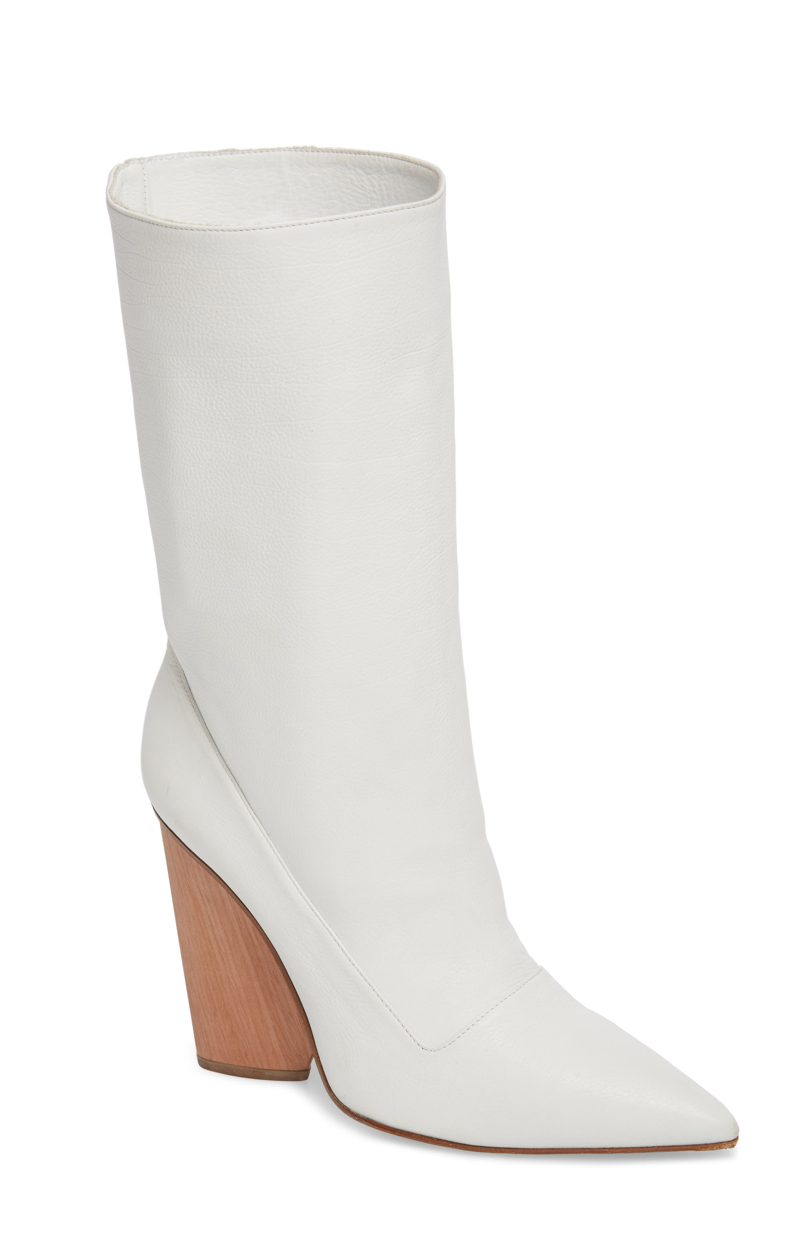 Judd Pointy Toe Boot,                         Main,                         color, White
