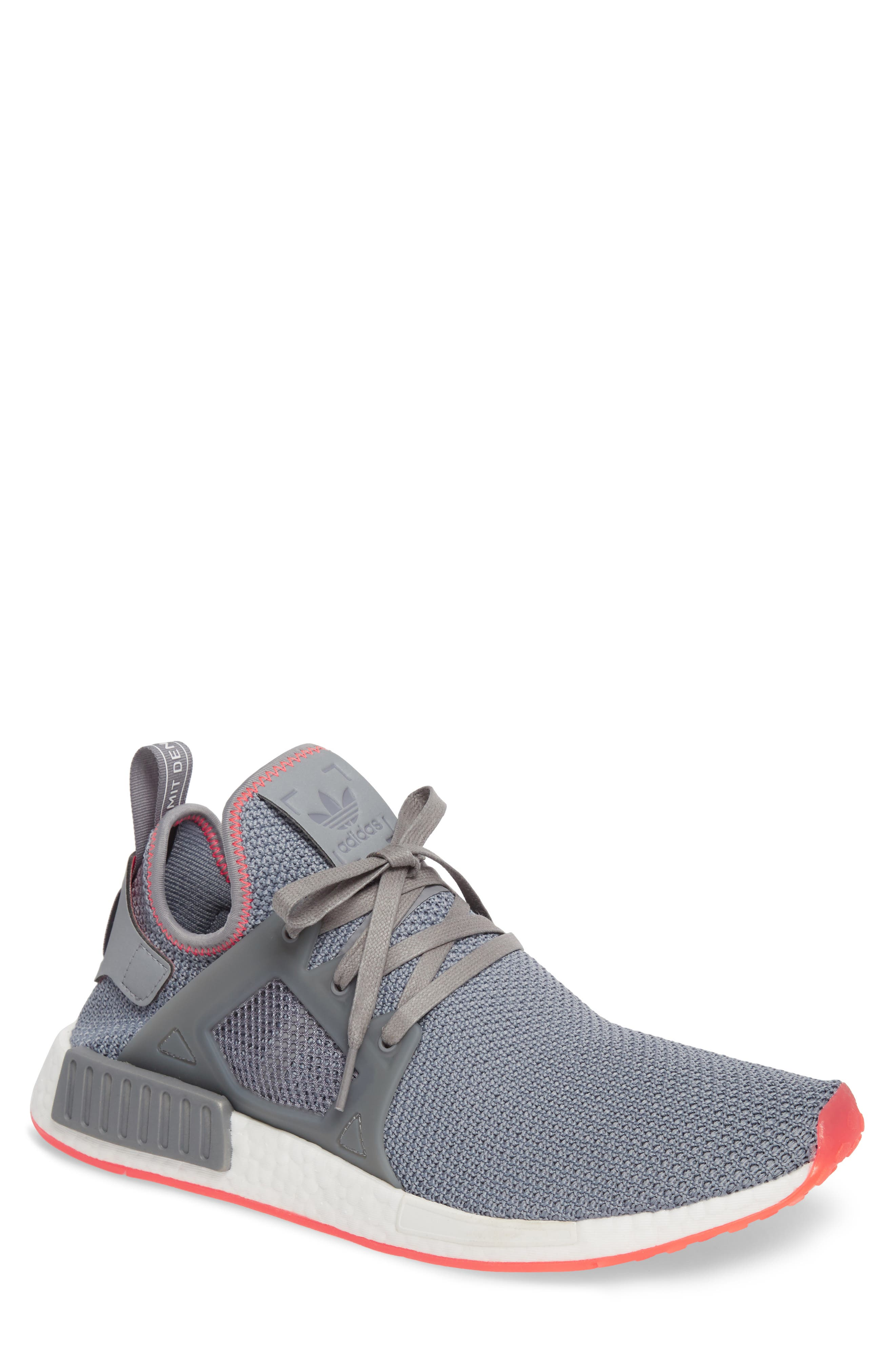 NMD_XR1 Sneaker,                             Main thumbnail 1, color,                             Grey Heather/ Red