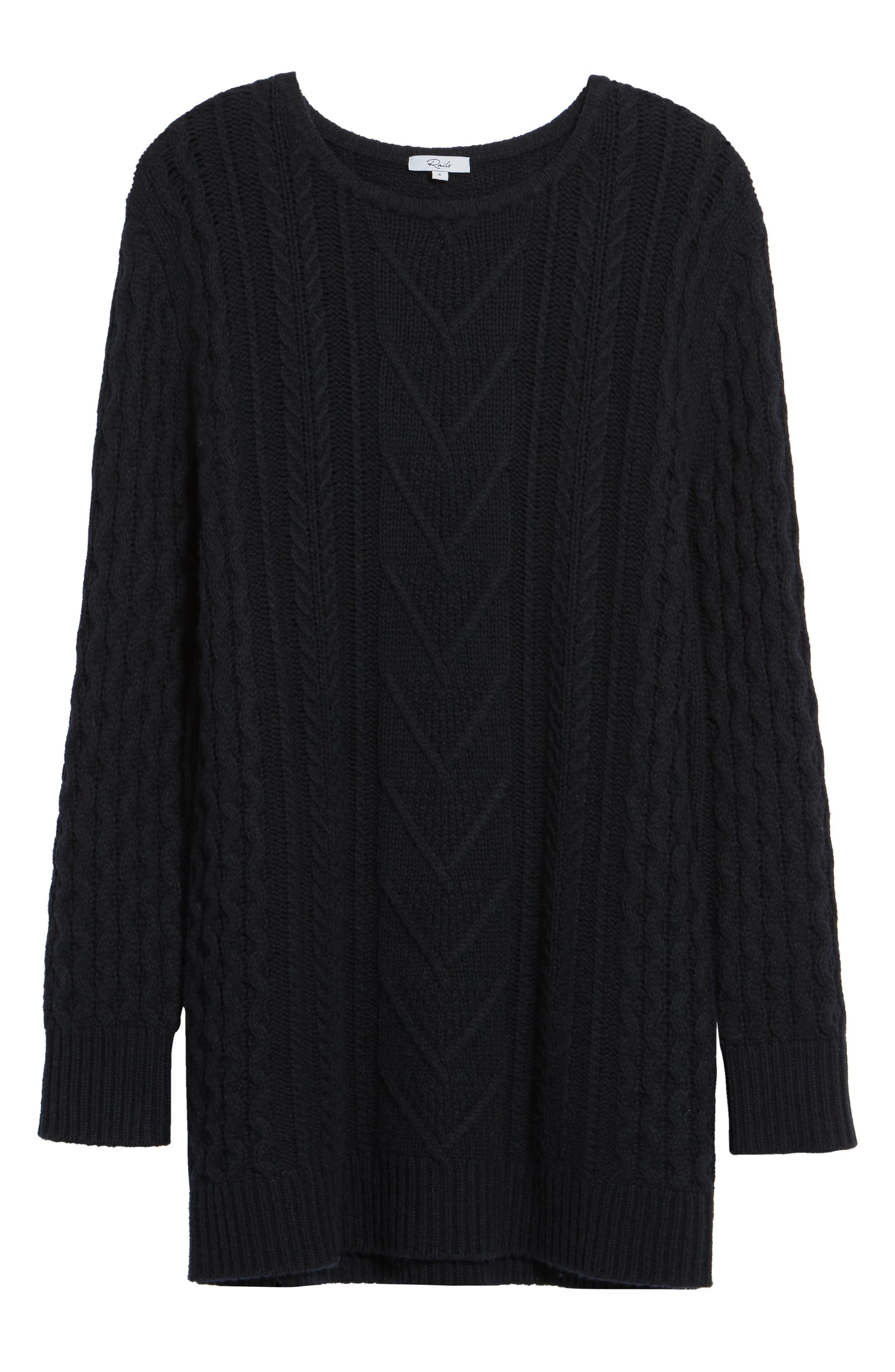 Jesse Sweater Minidress,                             Alternate thumbnail 6, color,                             Midnight