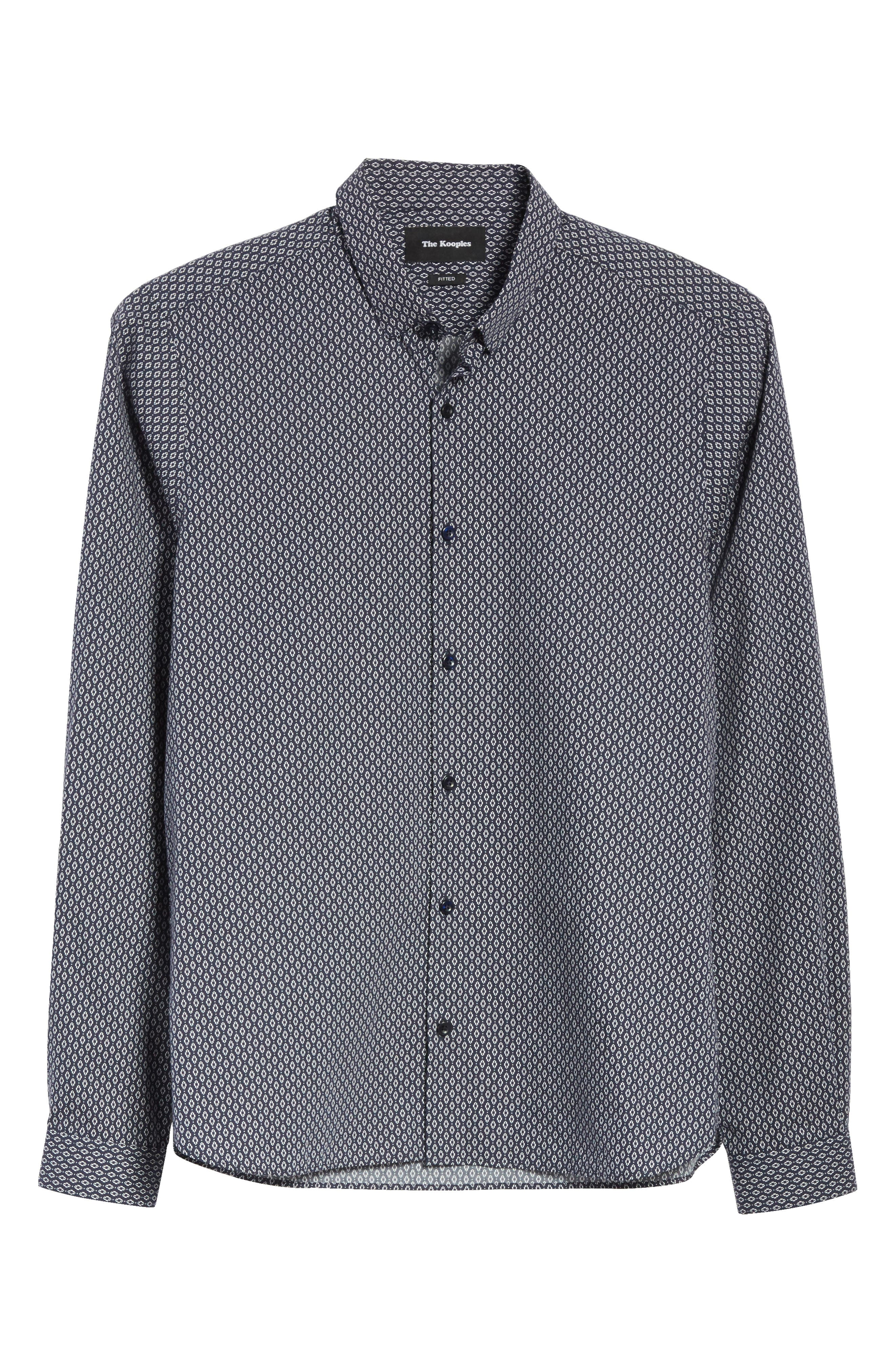 Alternate Image 6  - The Kooples Diamond Print Shirt