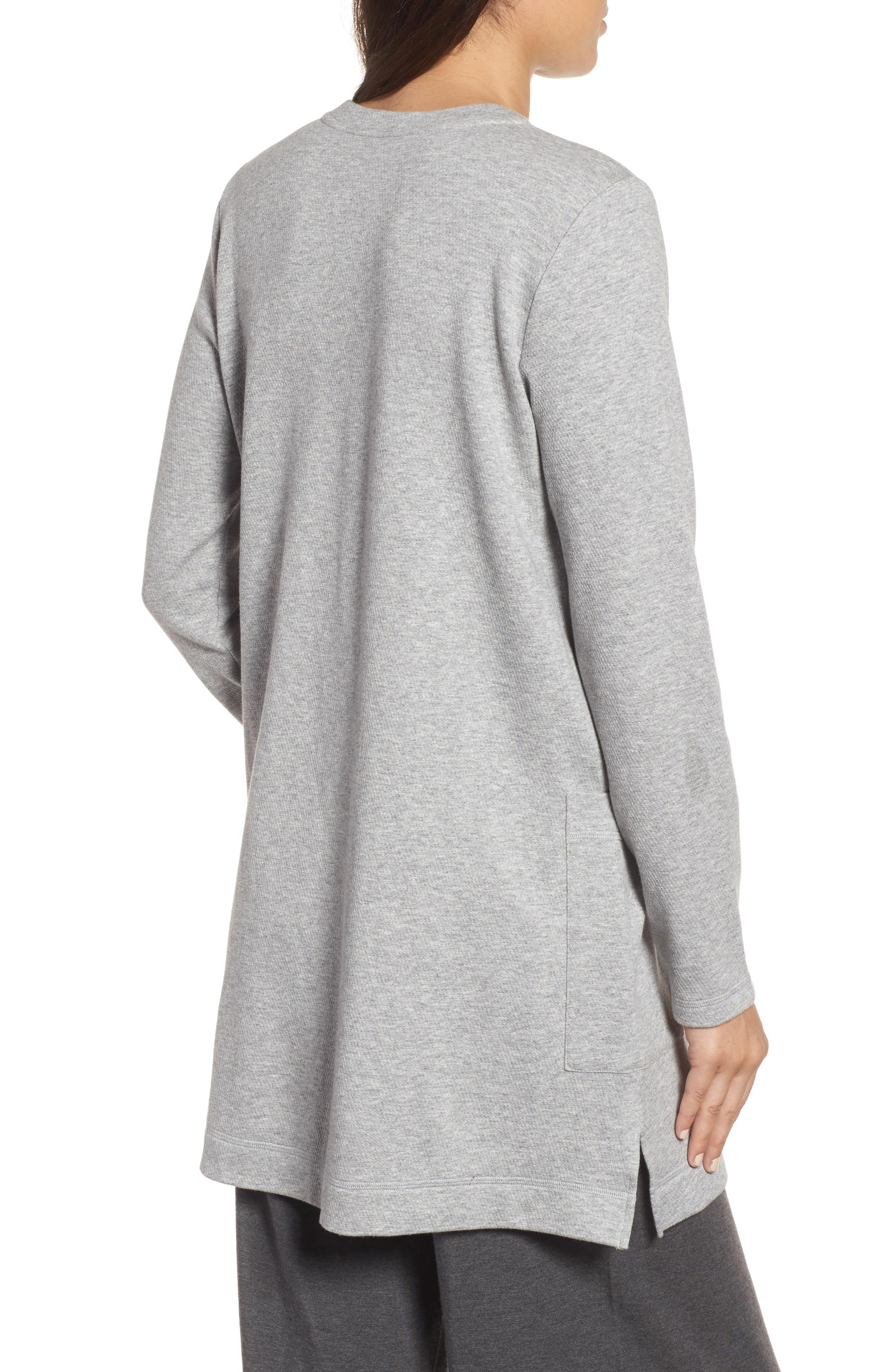 Double Knit Organic Cotton Tunic,                             Alternate thumbnail 2, color,                             Dark Pearl
