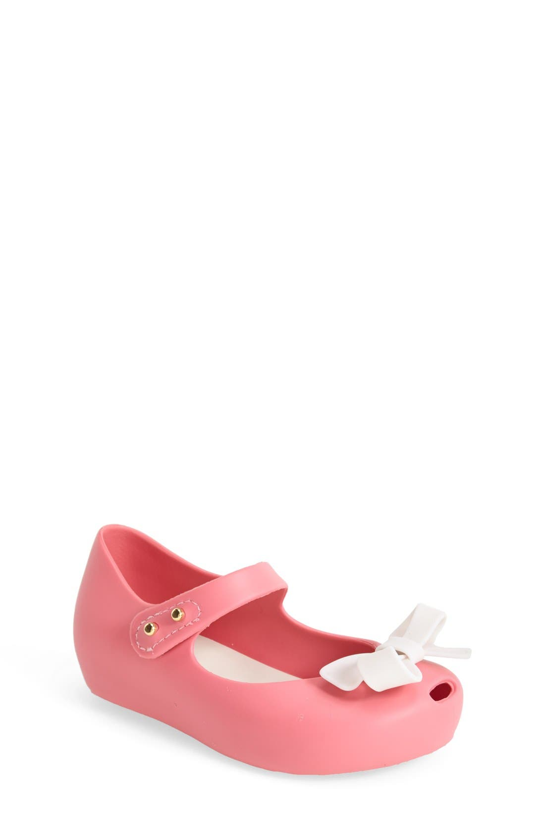 'Ultragirl Bow' Mary Jane Flat,                             Main thumbnail 1, color,                             Pink White
