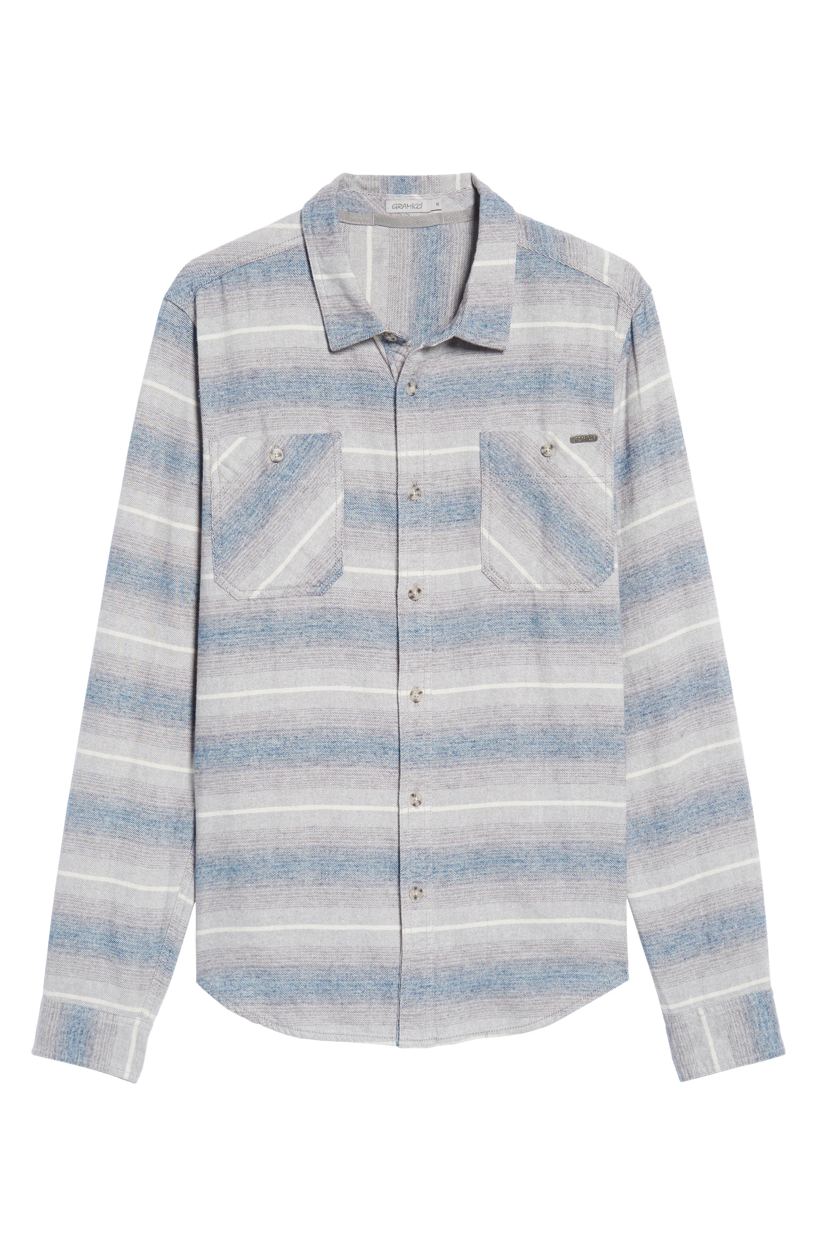General Purpose Regular Fit Stripe Sport Shirt,                             Alternate thumbnail 6, color,                             Blue Abyss