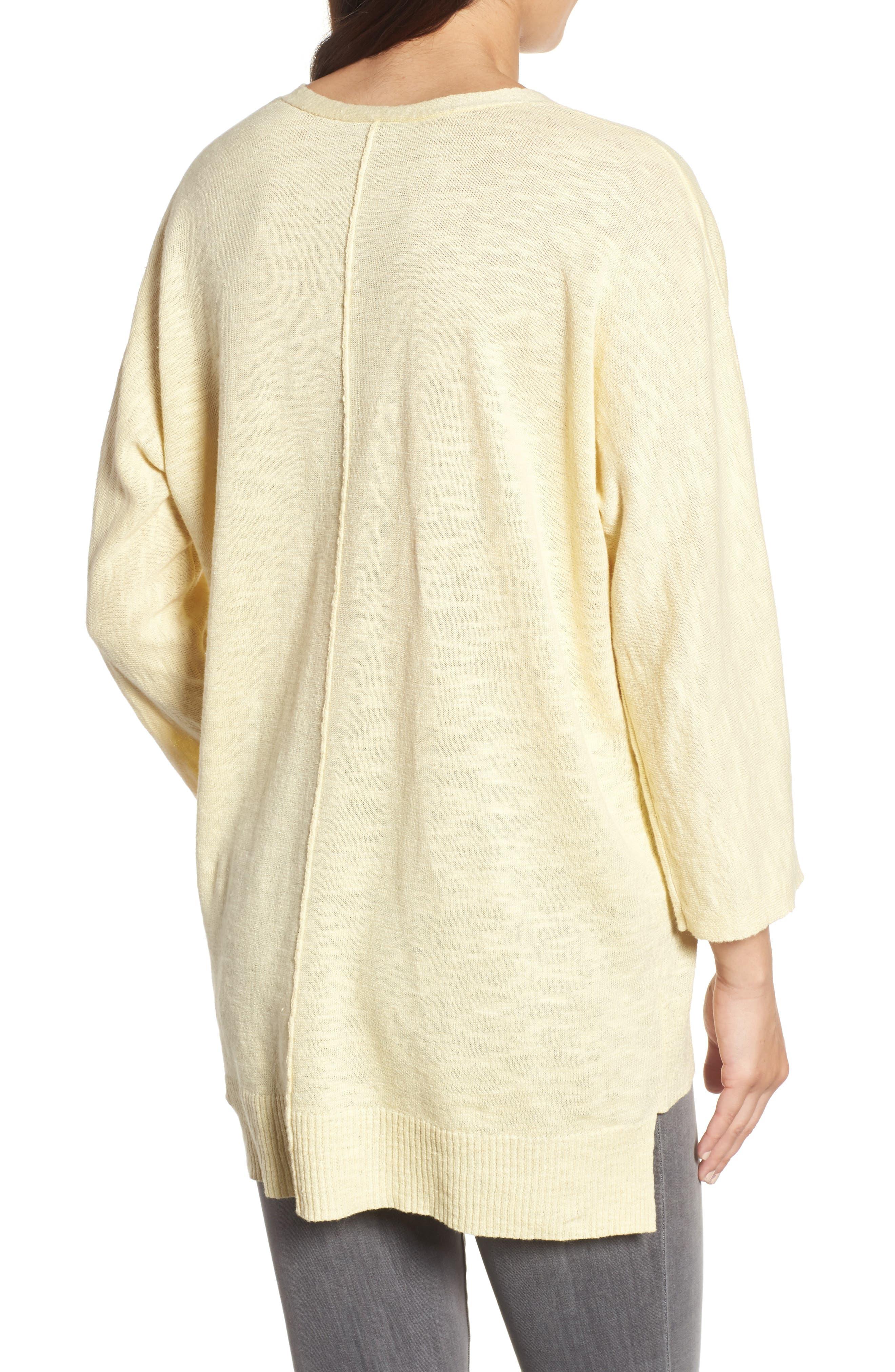 Organic Linen & Cotton Sweater,                             Alternate thumbnail 2, color,                             Flaxen