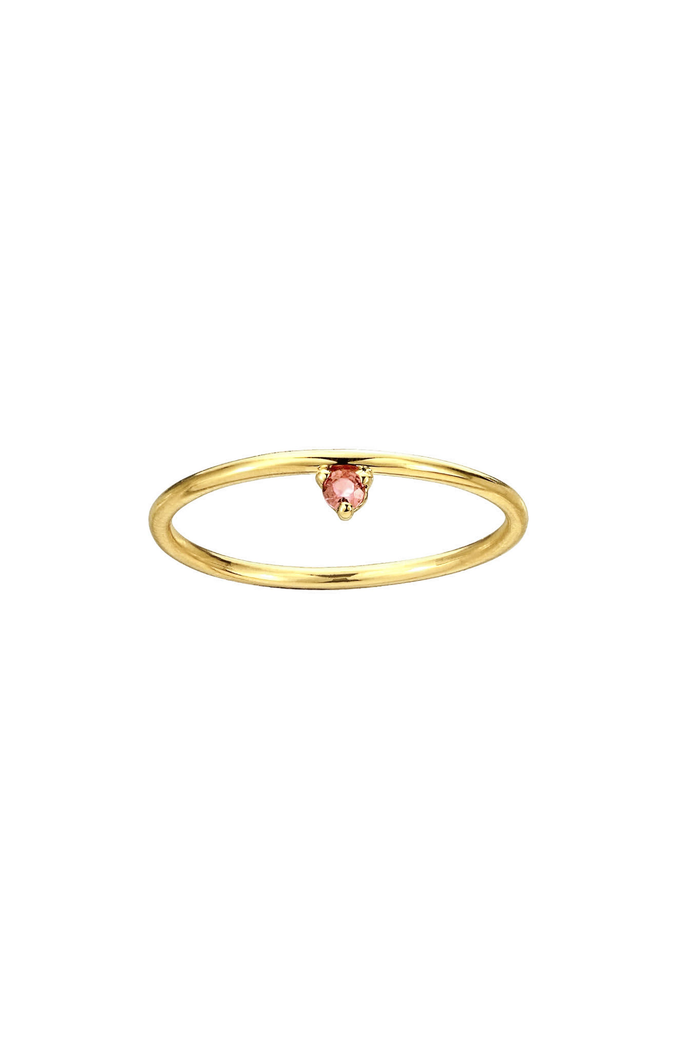 One Step Ring,                         Main,                         color, Pink Tourmaline