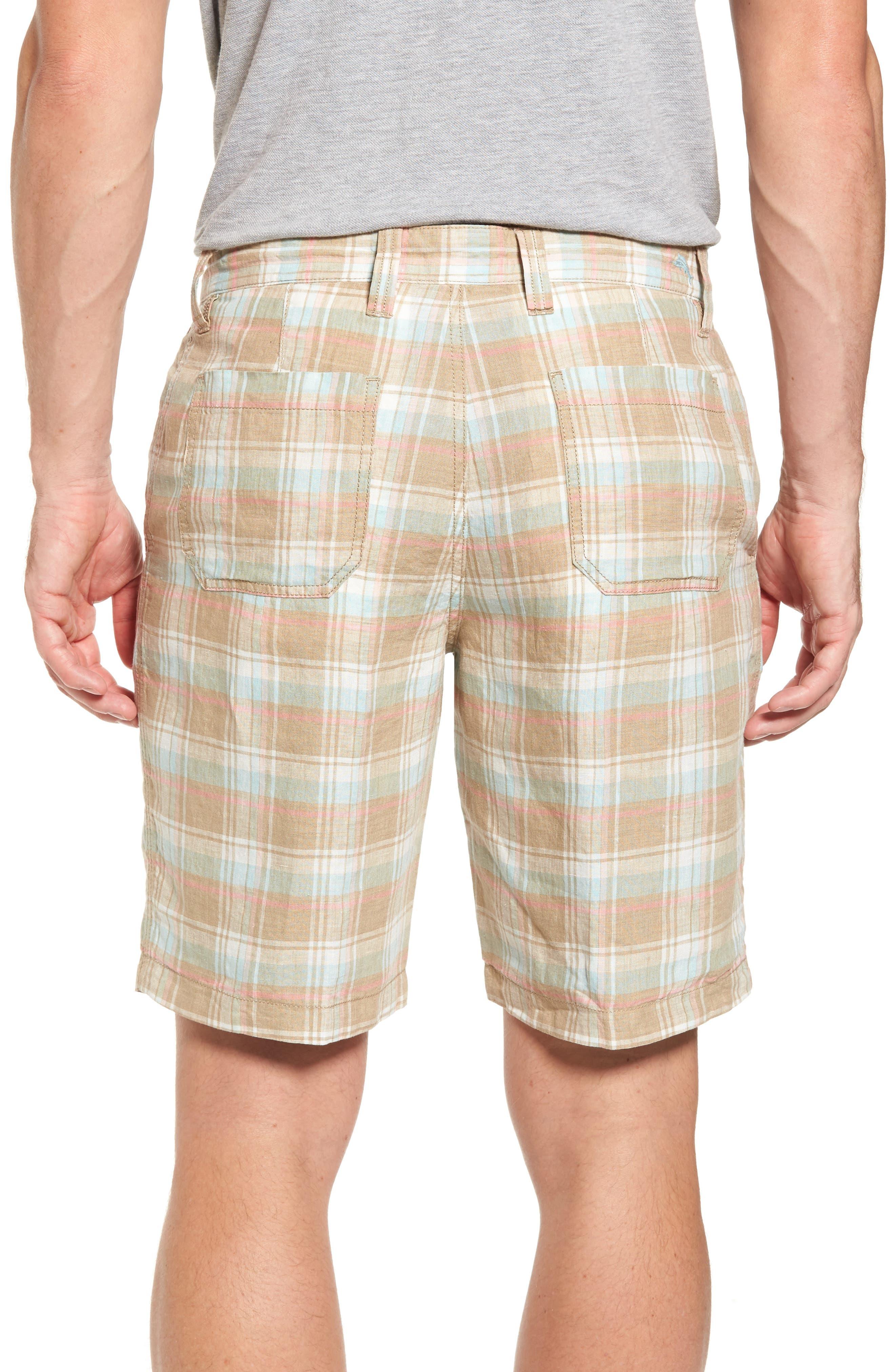 Plaid De Leon Reversible Shorts,                             Alternate thumbnail 2, color,                             Stone Khaki