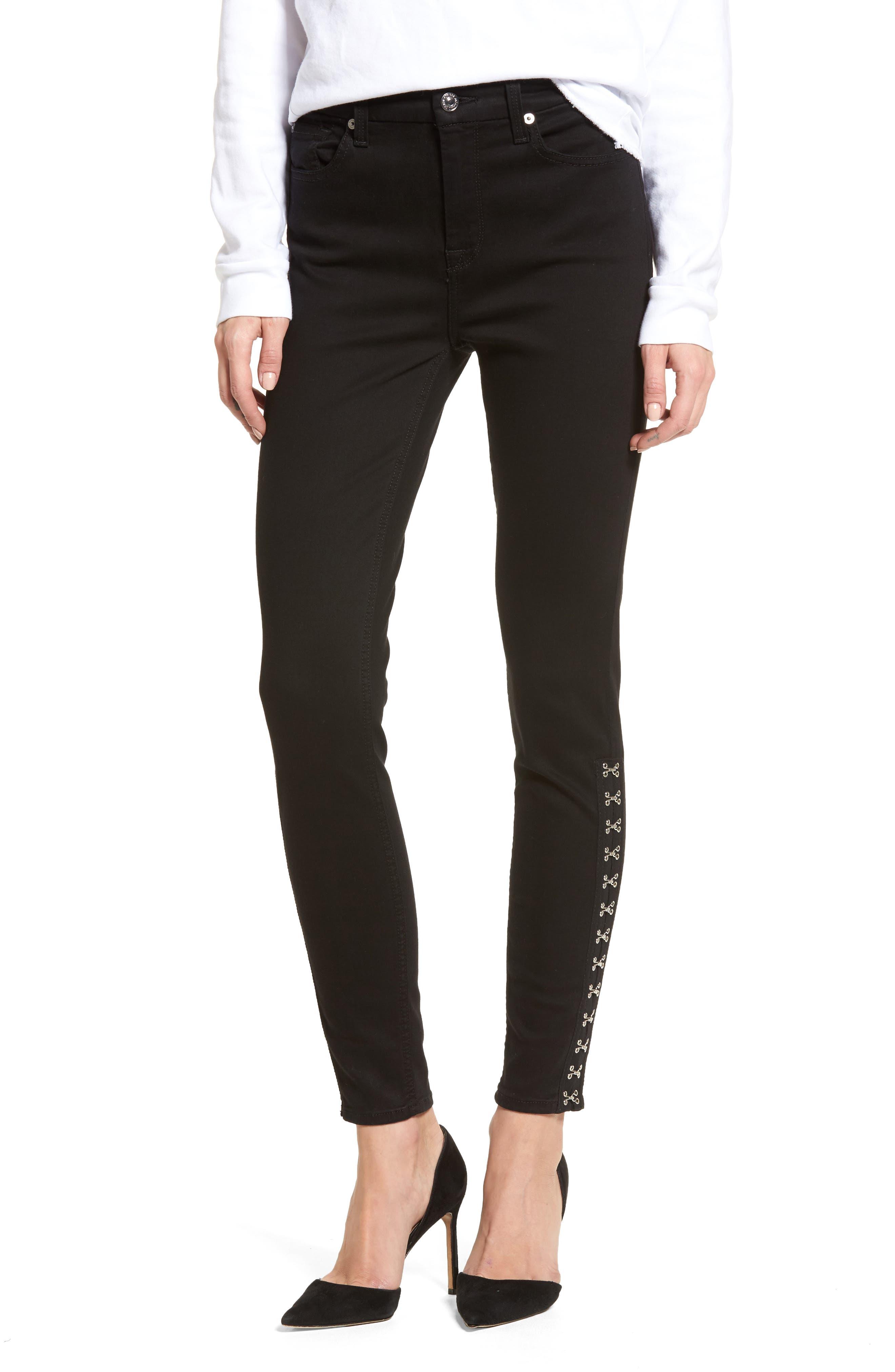 Main Image - 7 For All Mankind® Hook Hem High Waist Ankle Skinny Jeans