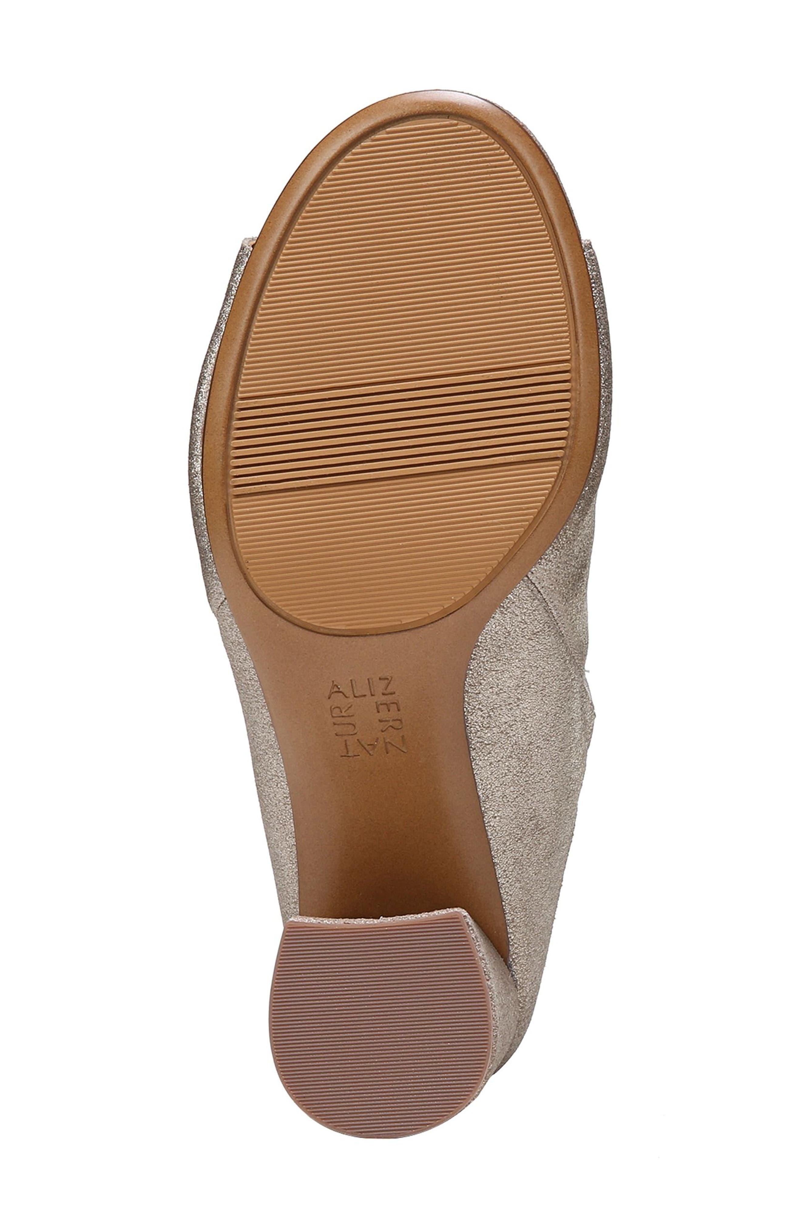 Cyprine Slide Sandal,                             Alternate thumbnail 6, color,                             Champagne Suede