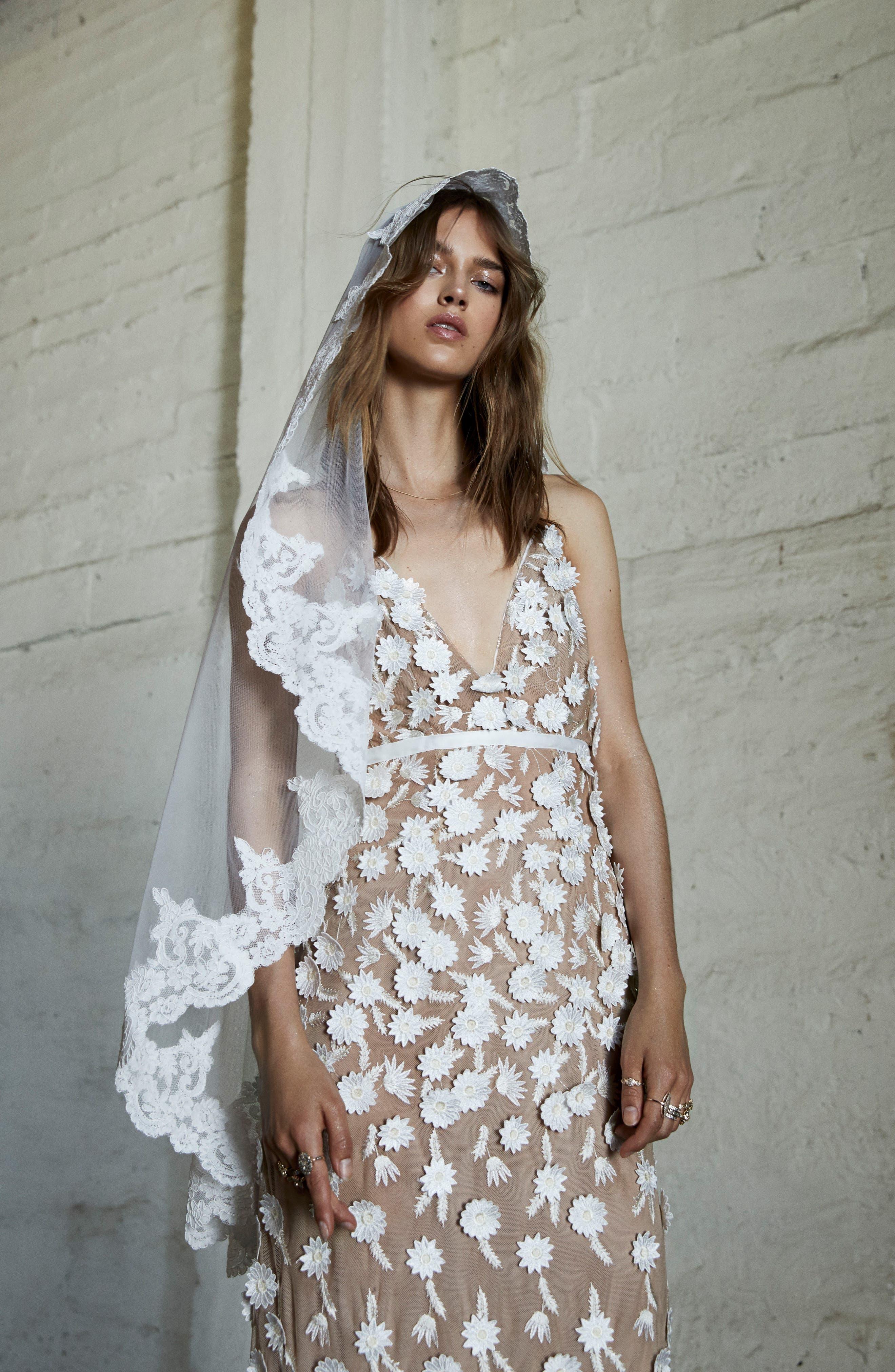 Alternate Image 2  - For Love & Lemons Marguerite Floral Petal Gown