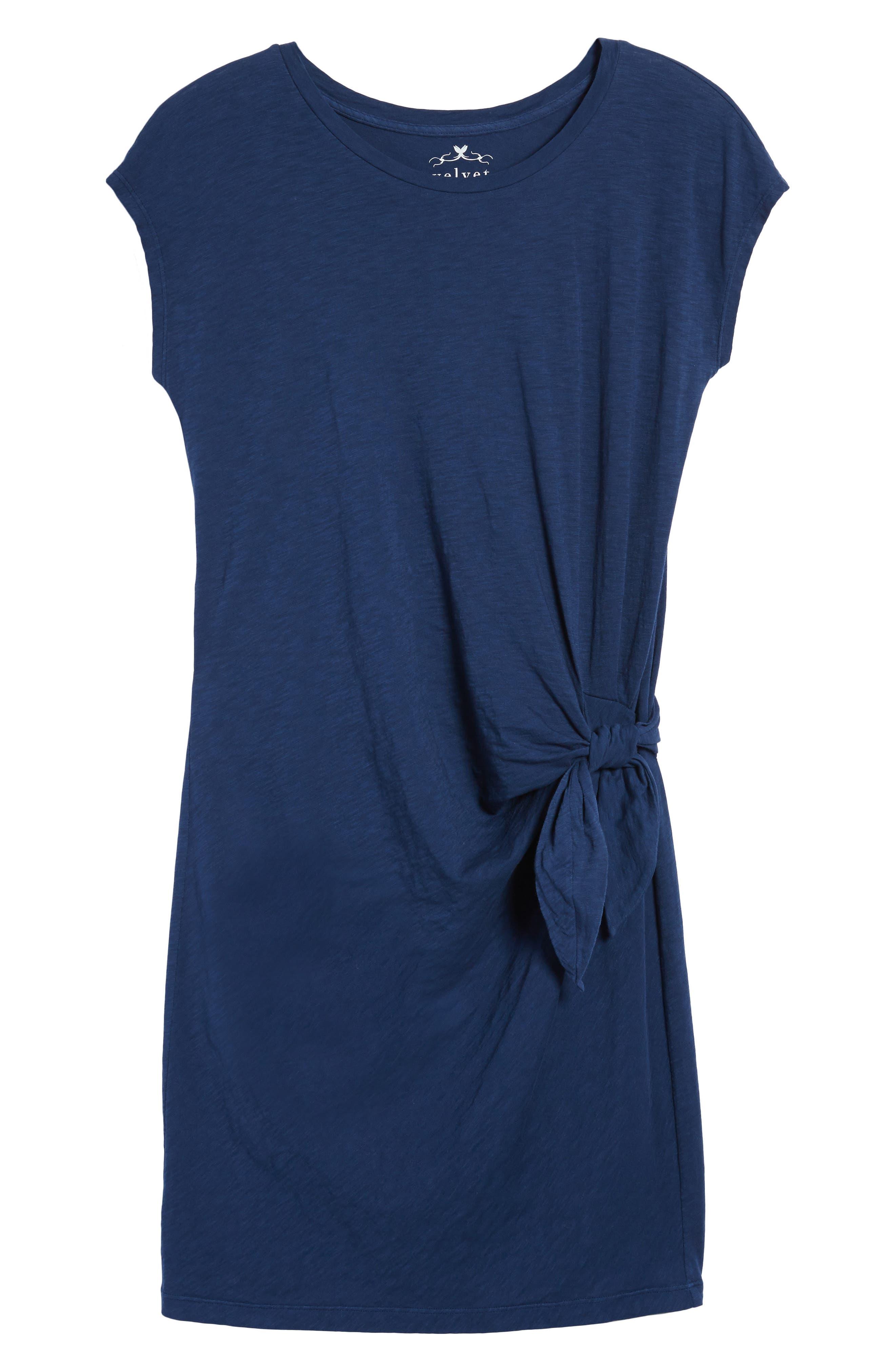 Alternate Image 6  - Velvet by Graham & Spencer Cotton Slub Tie Waist Dress