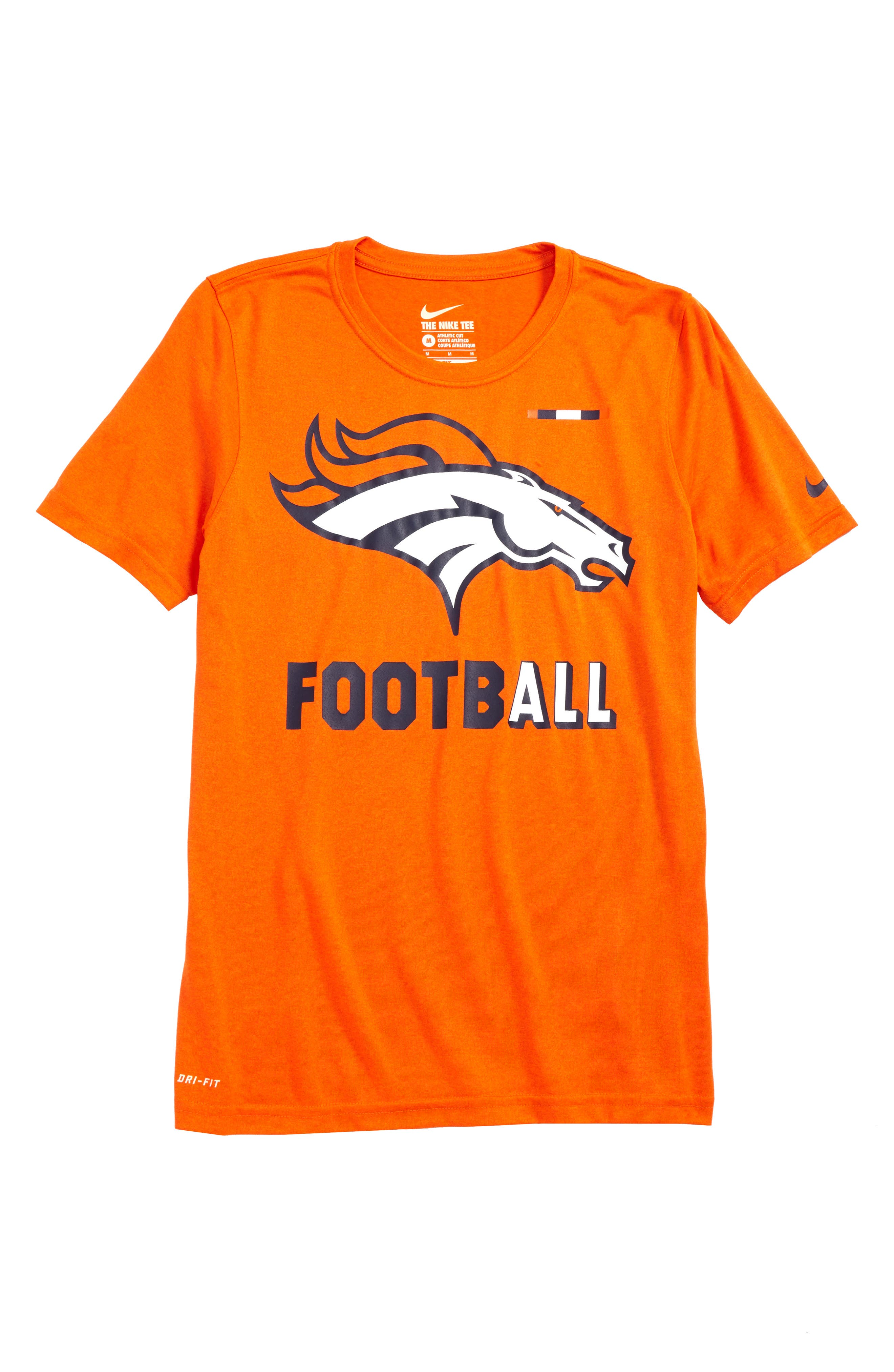 Alternate Image 1 Selected - Nike NFL Logo - Denver Broncos Dry T-Shirt (Big Boys)