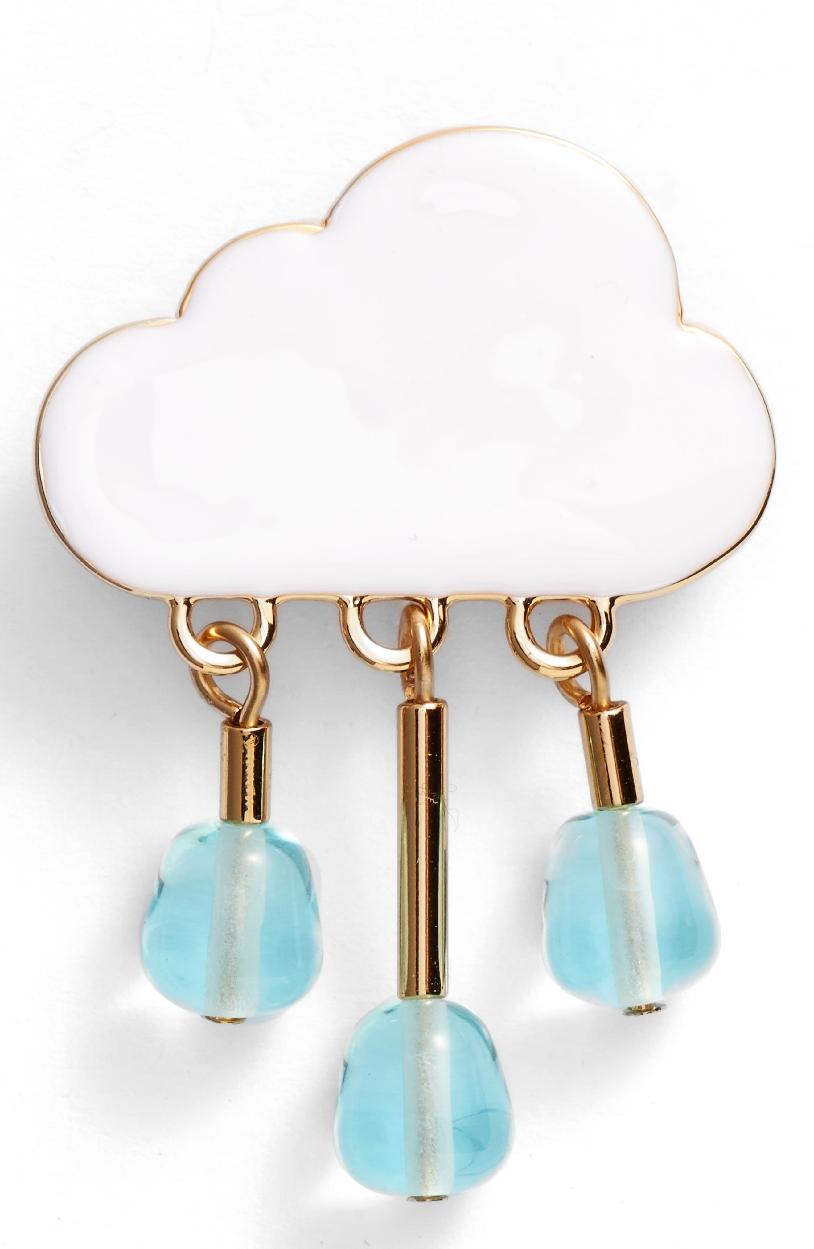 Chance of Rain Pin,                         Main,                         color, White/ Gold