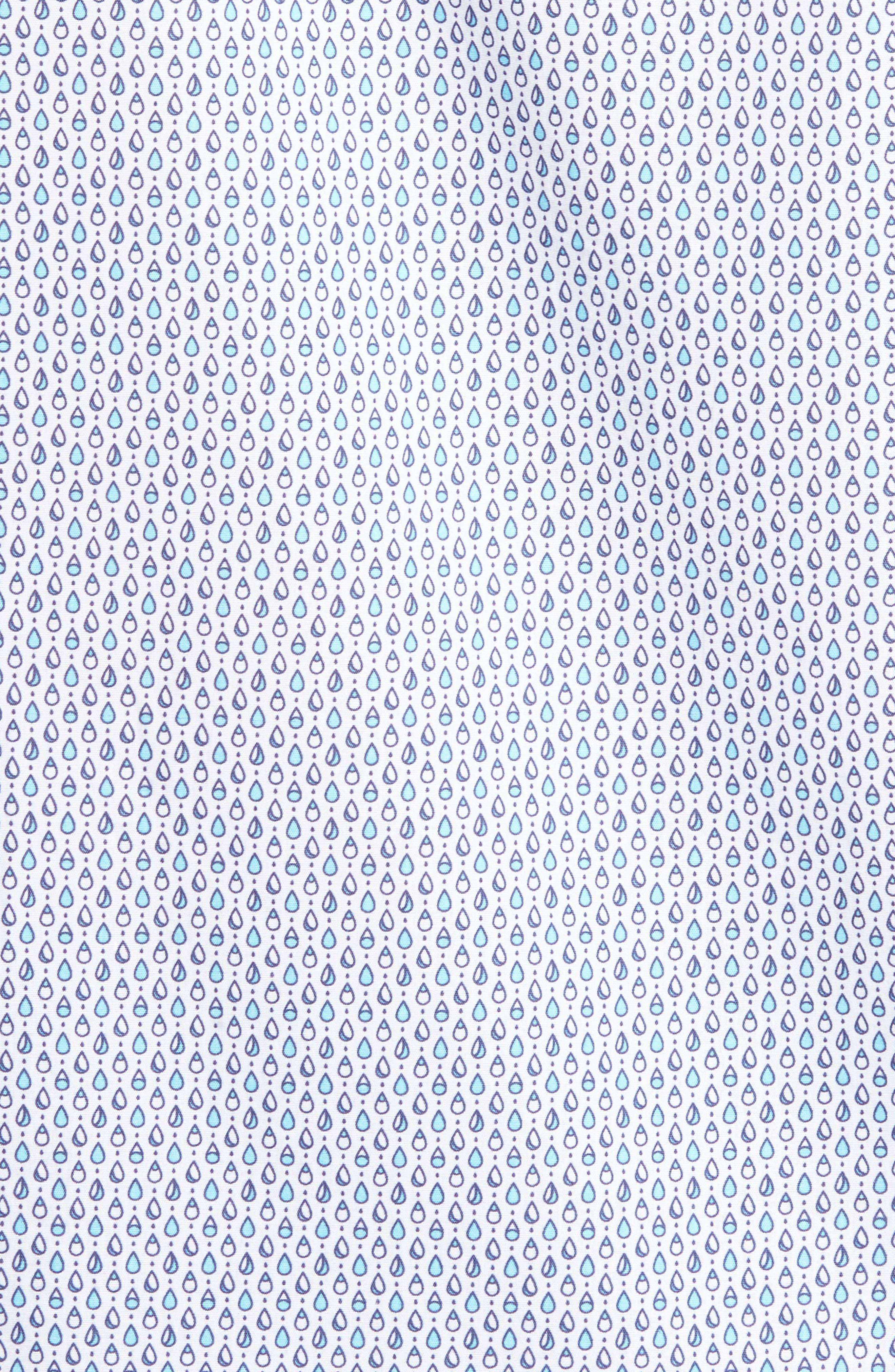 Trim Fit Teardrop Sport Shirt,                             Alternate thumbnail 5, color,                             White