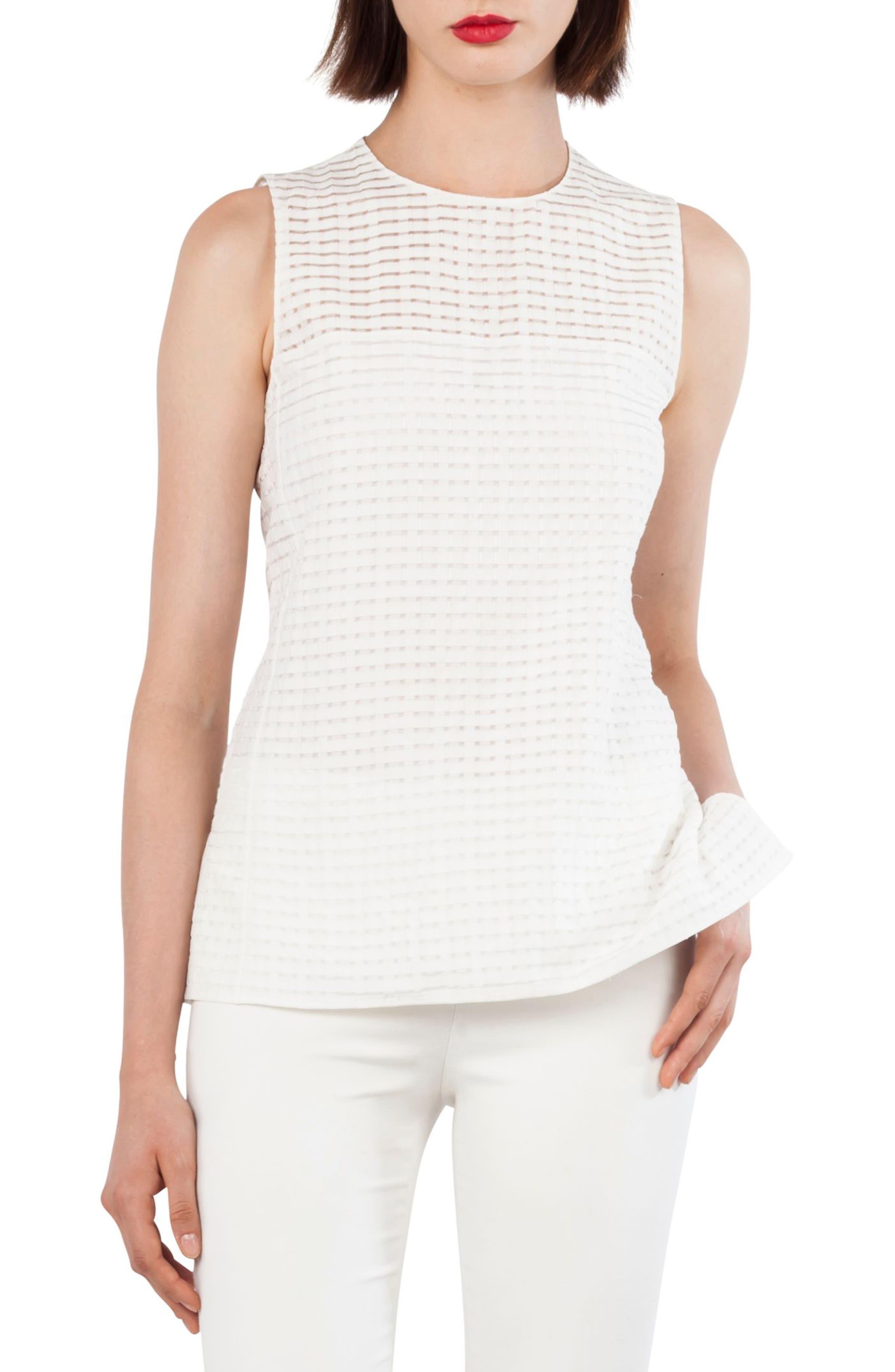 Openweave Silk & Cotton Blend Top,                         Main,                         color, Paper