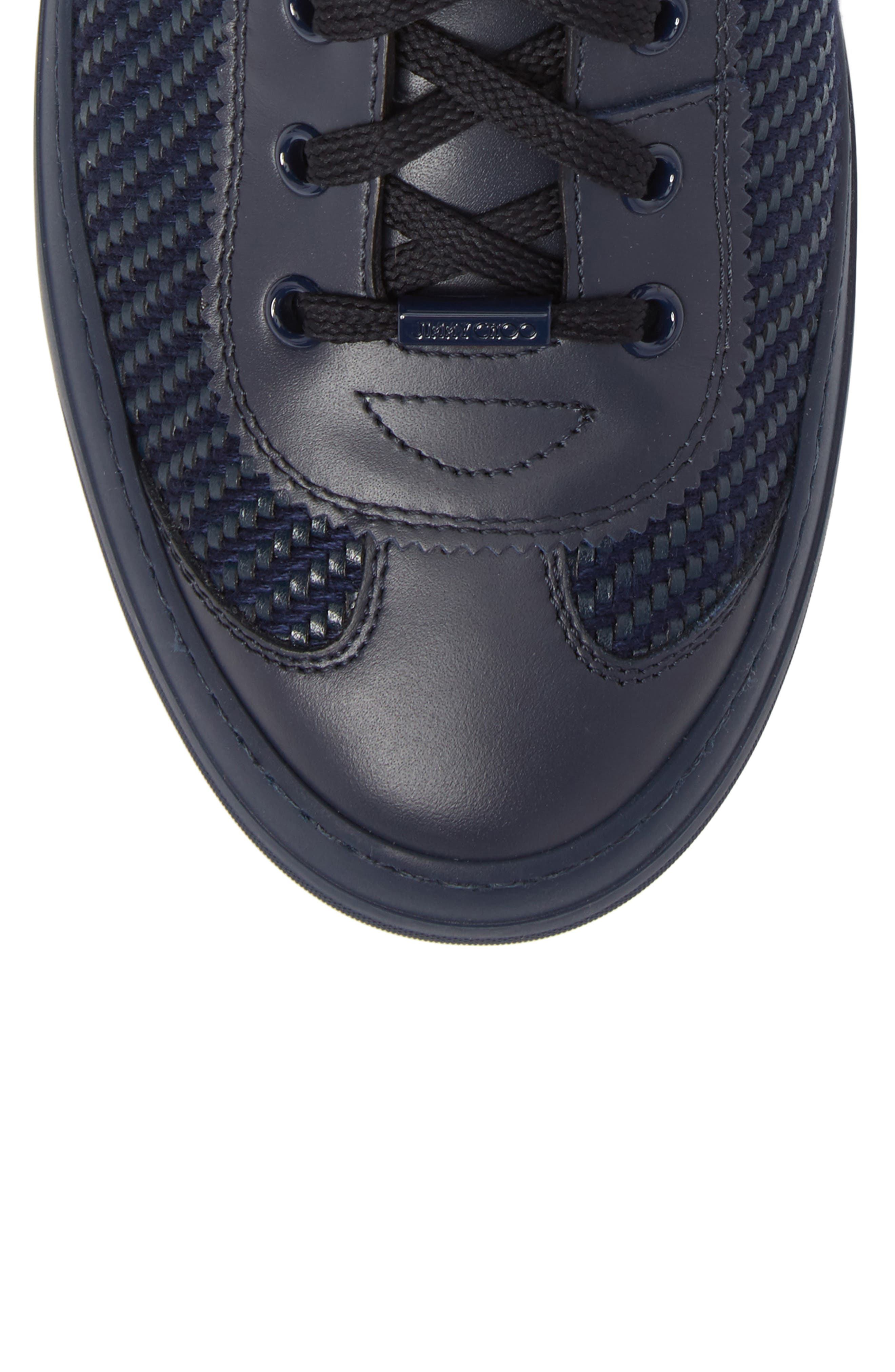 Argyle Sneaker,                             Alternate thumbnail 5, color,                             Navy