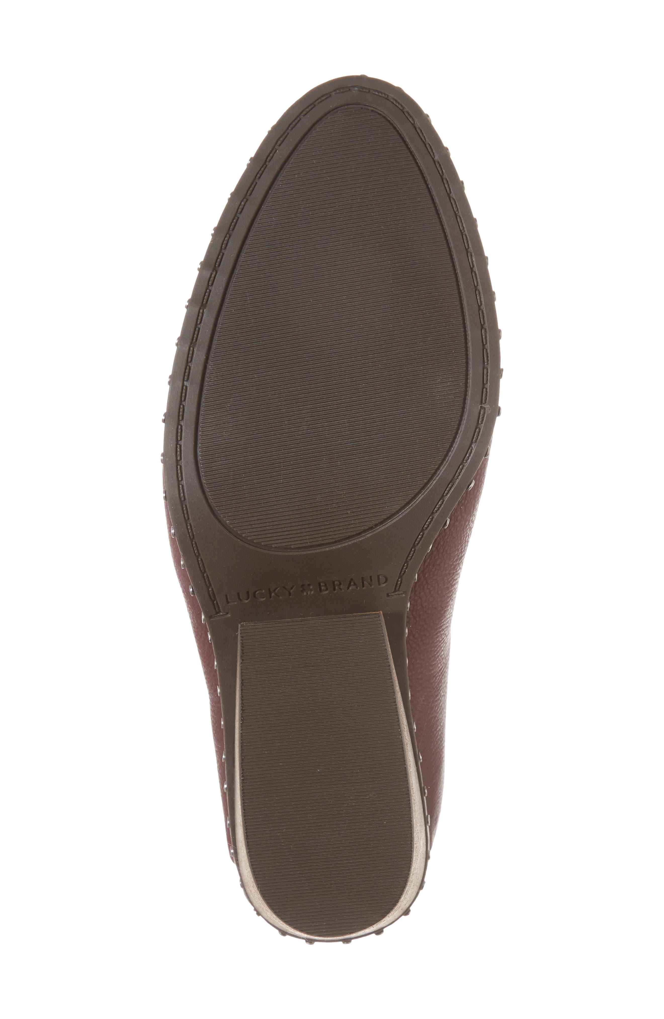 Larsson2 Studded Mule,                             Alternate thumbnail 6, color,                             Tawny Port Leather