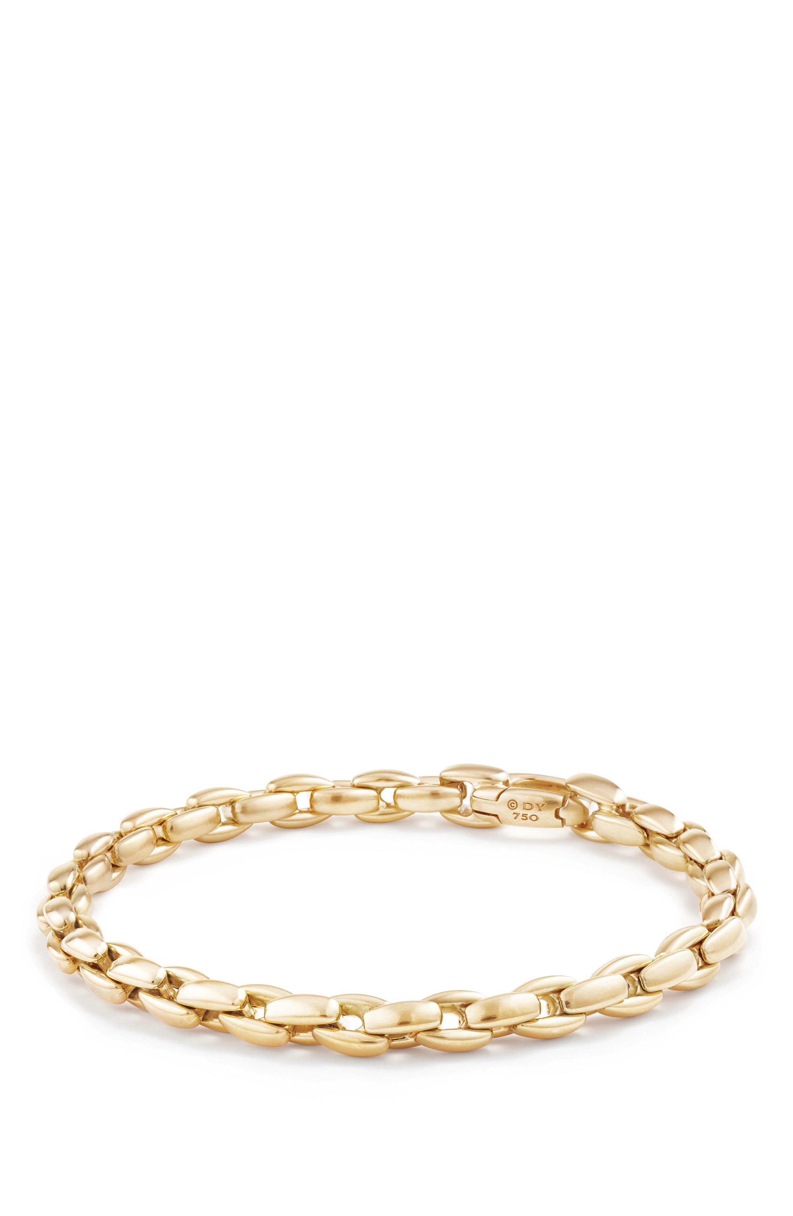 David Yurman Elongated Box Chain Bracelet in 18K Gold, 6mm