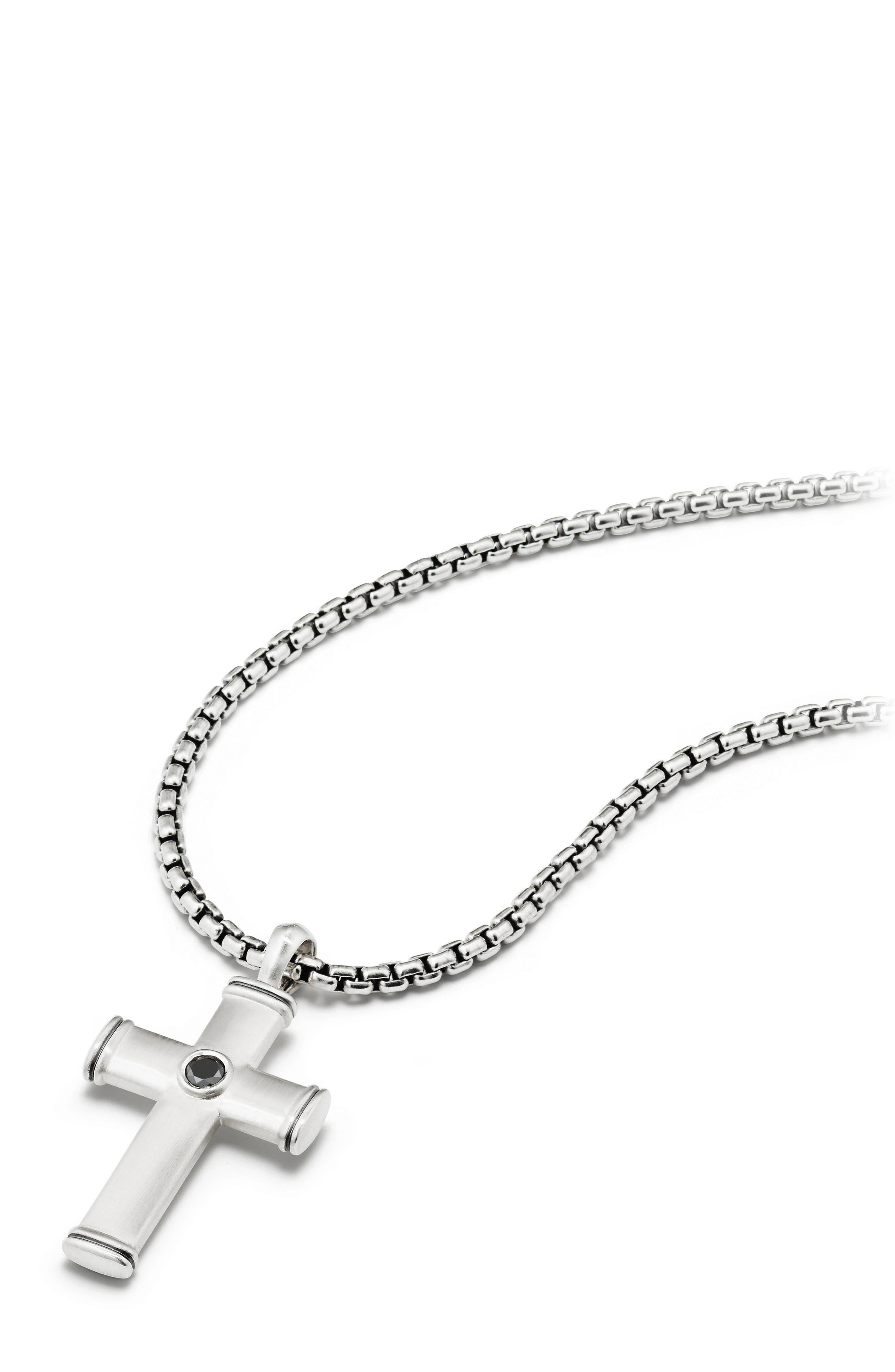 Alternate Image 3  - David Yurman Streamline Cross Tag with Black Diamonds