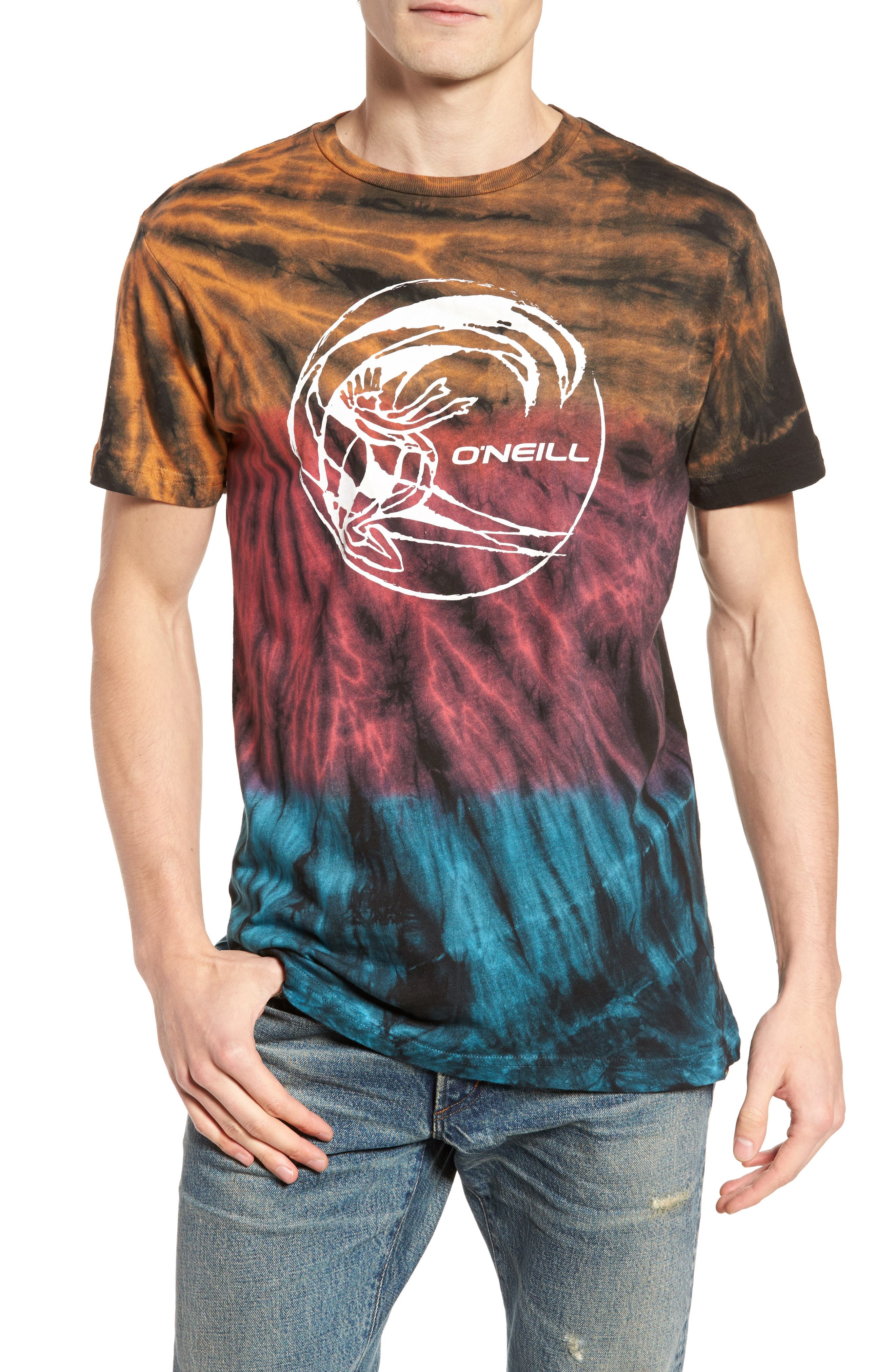 Alternate Image 1 Selected - O'Neill The Lawn Graphic Tie Dye T-Shirt