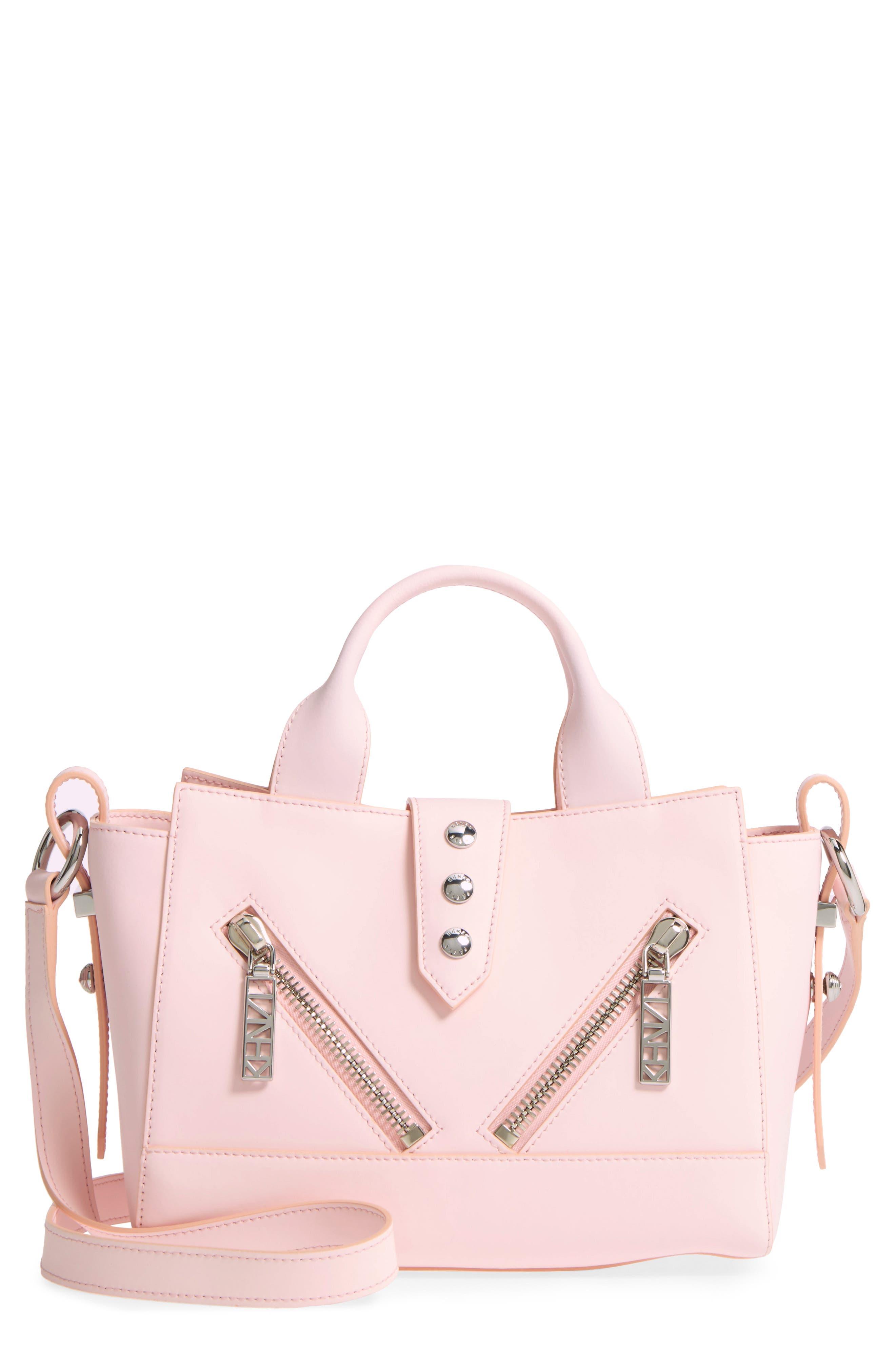 'Mini Kalifornia' Leather Satchel,                             Main thumbnail 1, color,                             Faded Pink