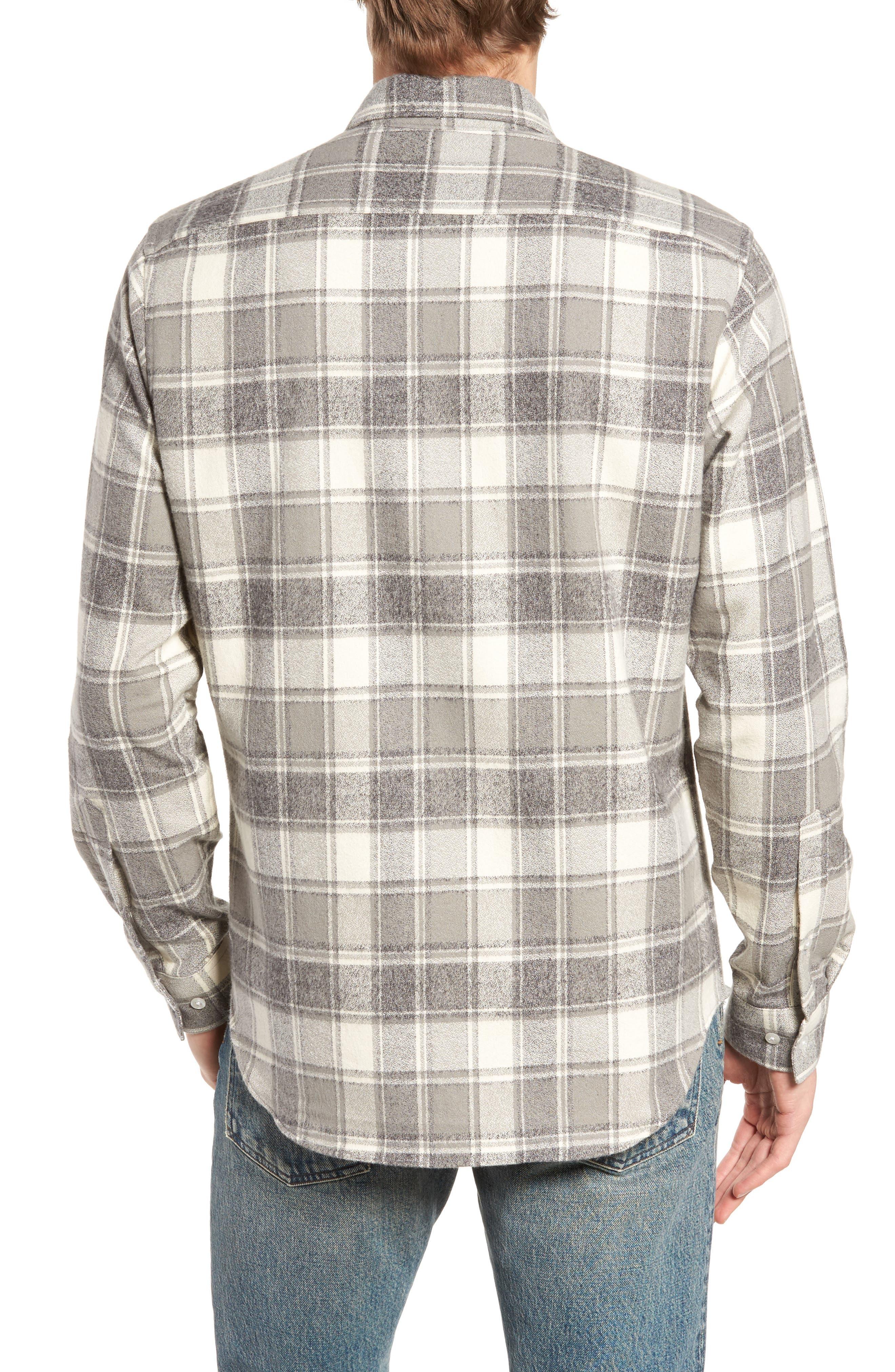 Ma Slim Fit Plaid Sport Shirt,                             Alternate thumbnail 2, color,                             Iron